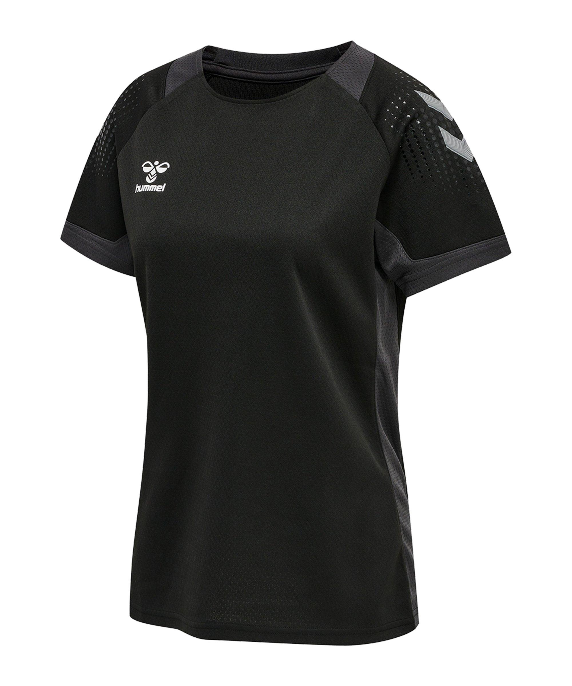 Hummel hmlLEAD Trainingsshirt Damen Schwarz F2001 - schwarz