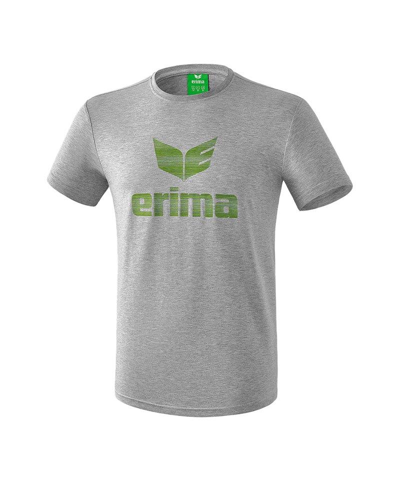 Erima Essential Tee T-Shirt Grau Grün - grau