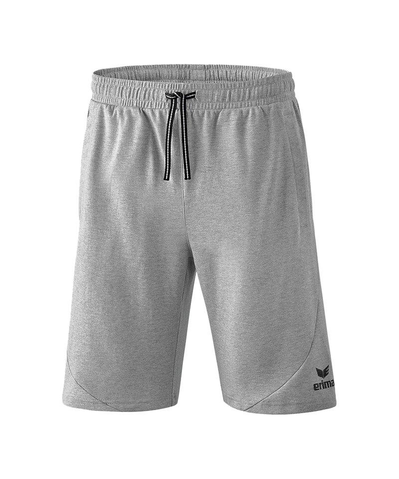 Erima Essential Sweathose Short Grau Kids - grau