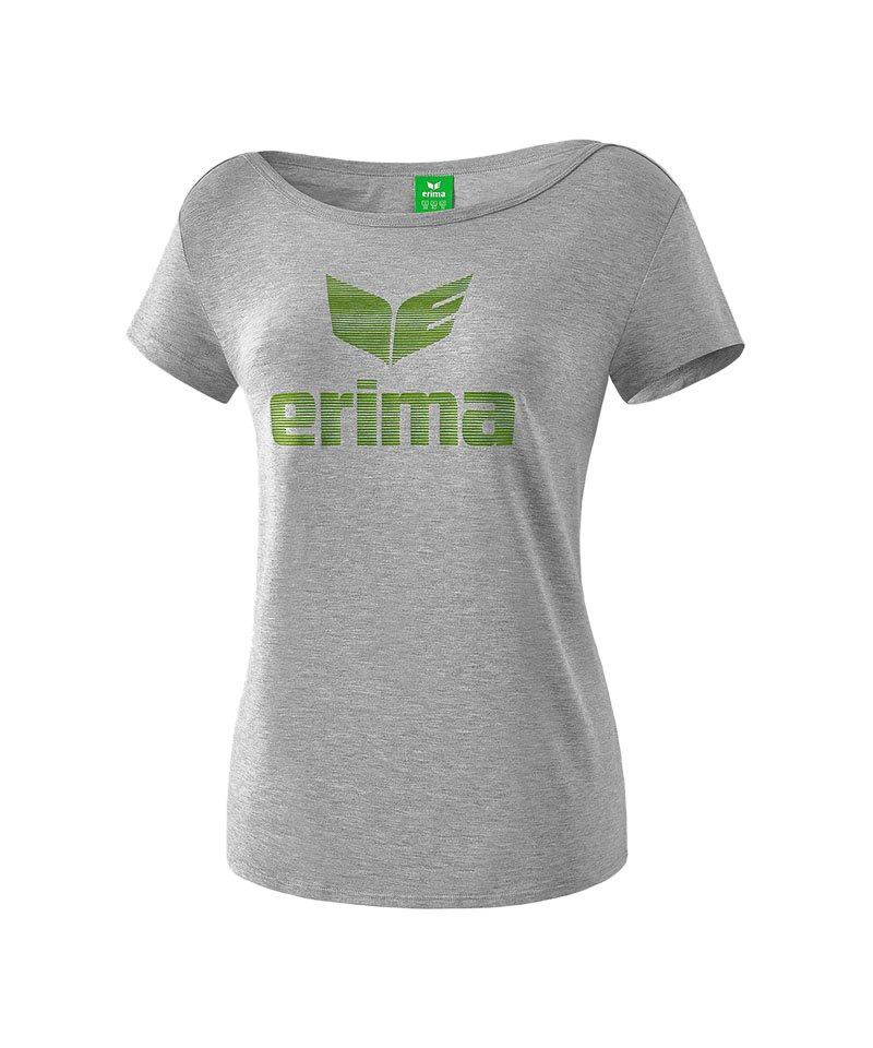 Erima Essential Tee T-Shirt Damen Grau Grün - grau