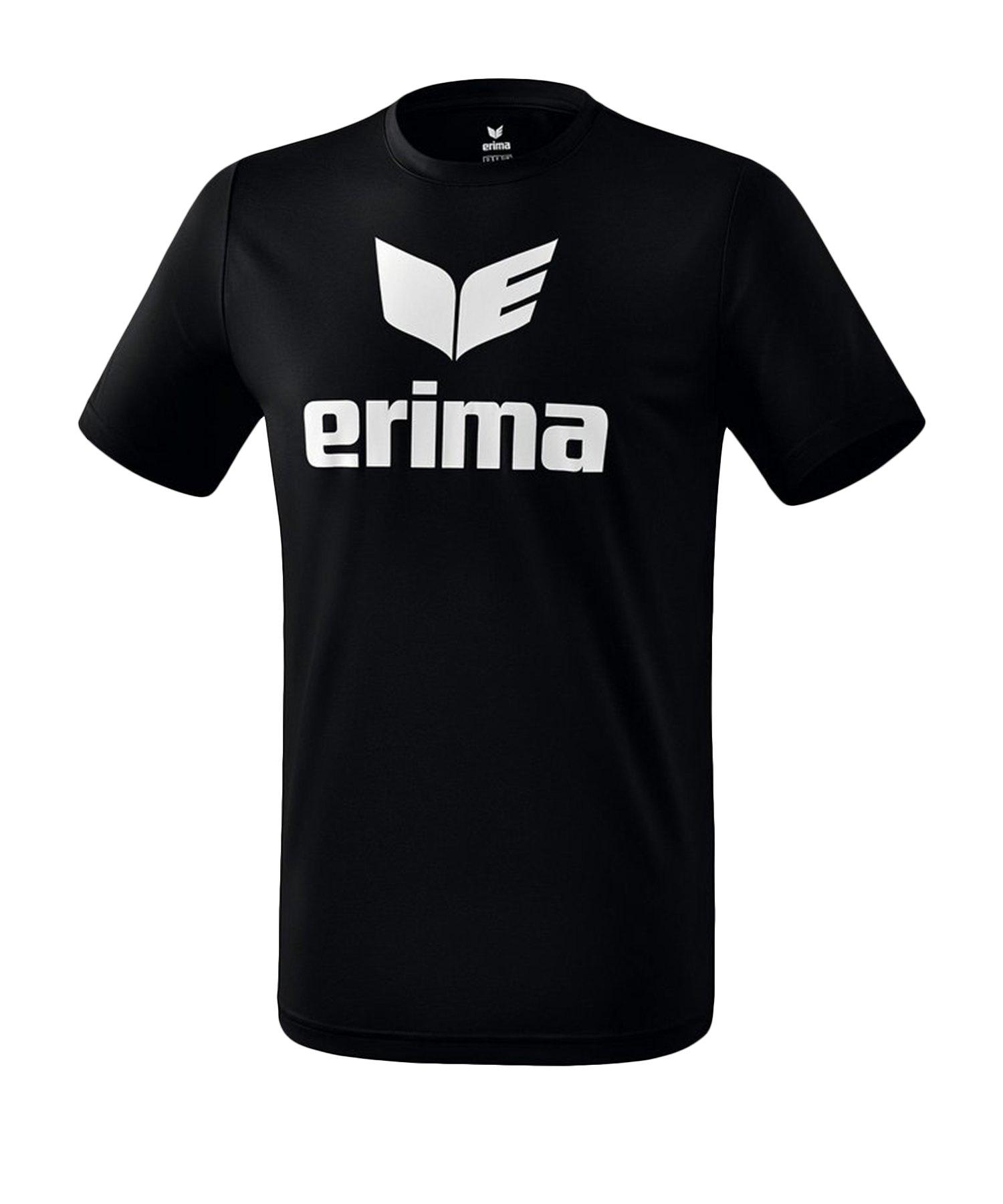 Erima Funktions Promo T-Shirt Kids Schwarz Weiss - Schwarz