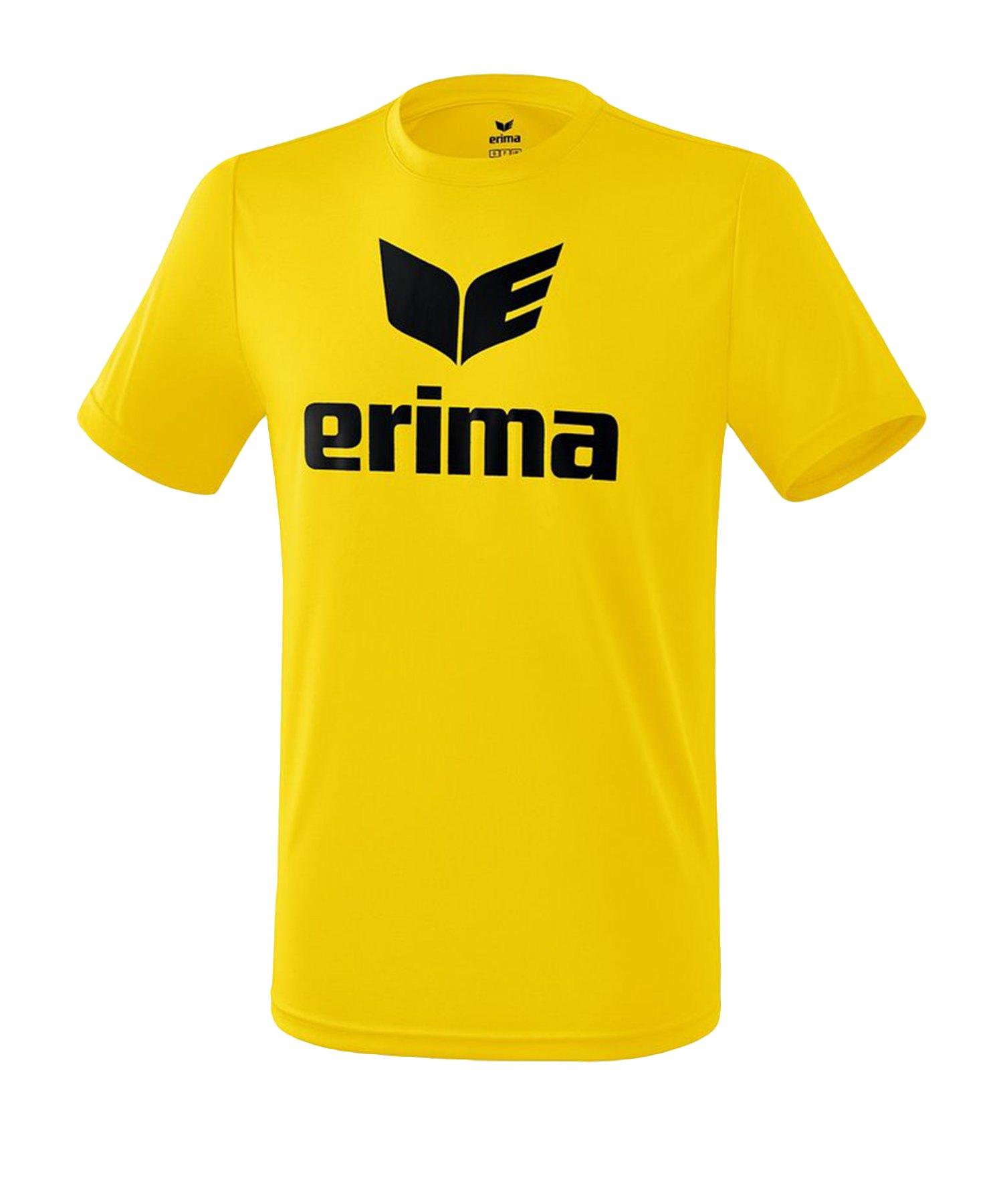 Erima Funktions Promo T-Shirt Gelb Schwarz - Gelb