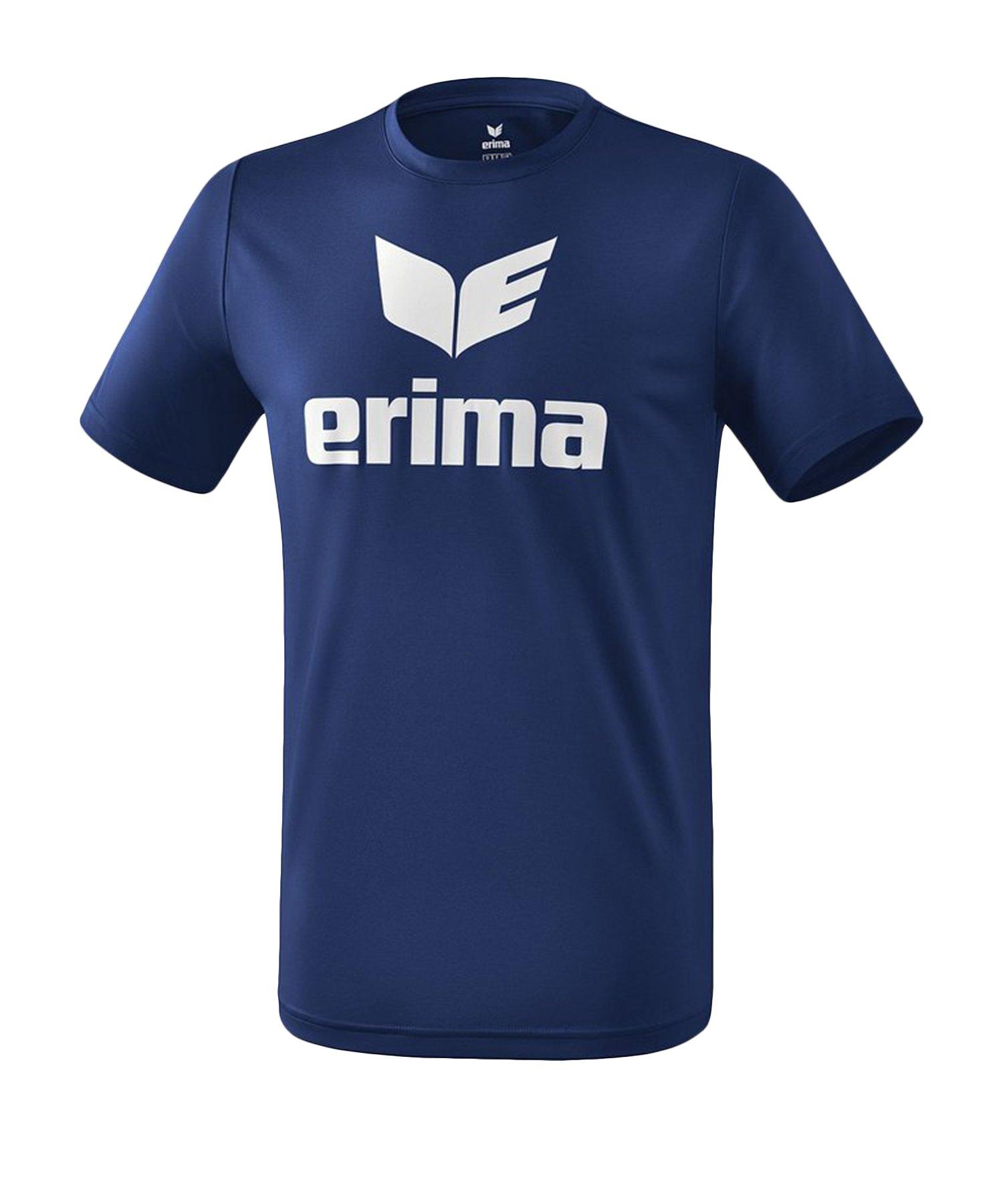 Erima Funktions Promo T-Shirt Blau Weiss - Blau