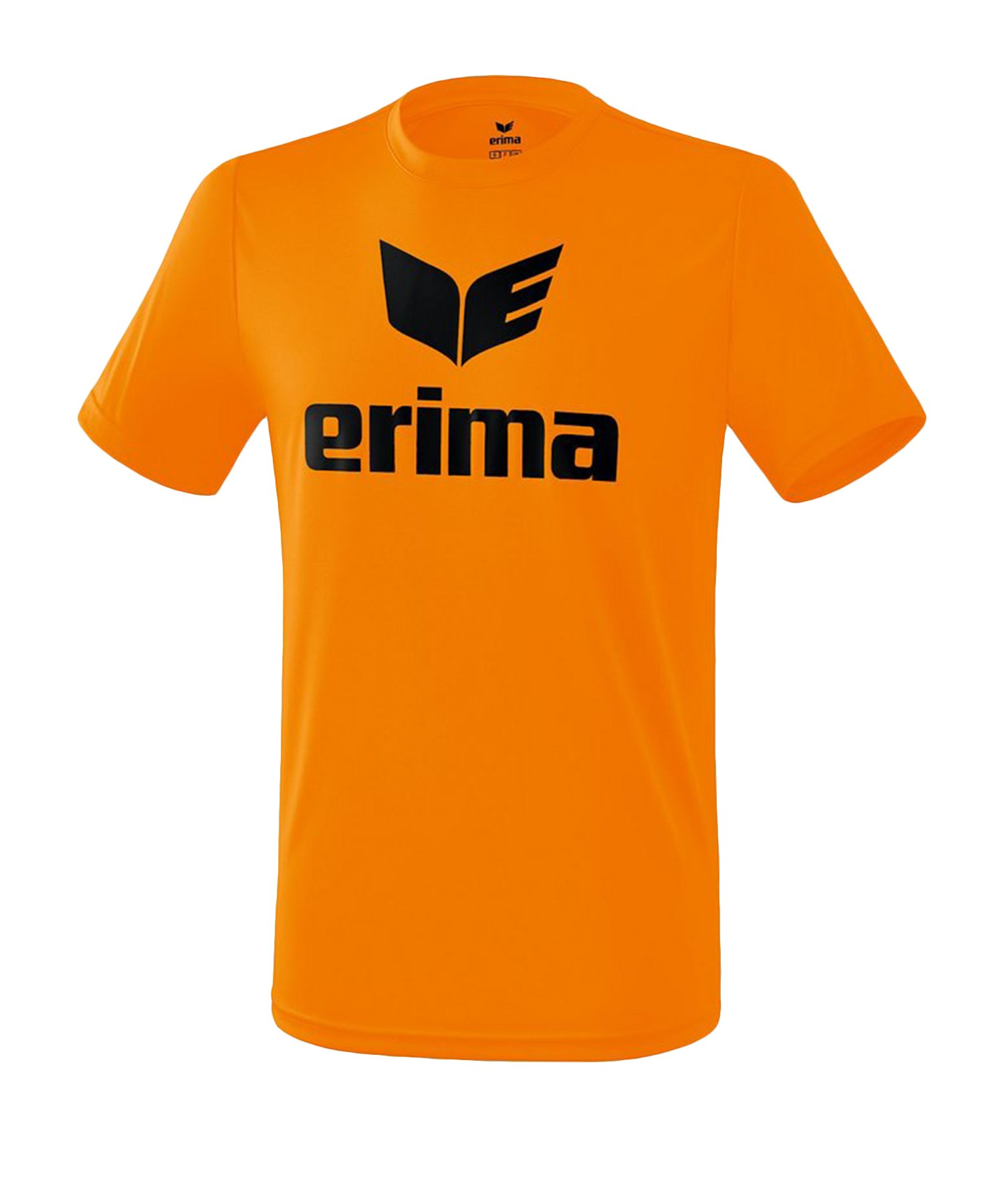 Erima Funktions Promo T-Shirt Orange Schwarz - Orange