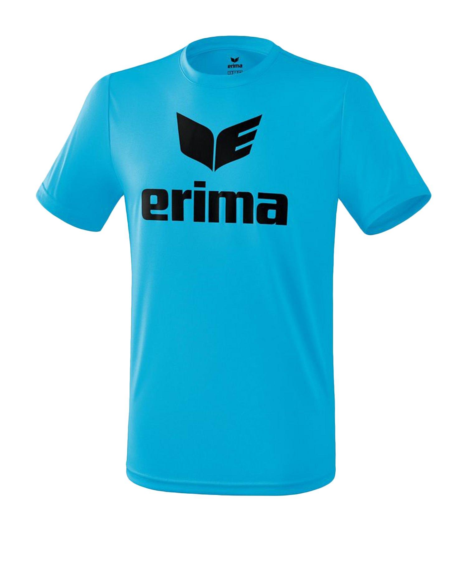 Erima Funktions Promo T-Shirt Blau Schwarz - Blau