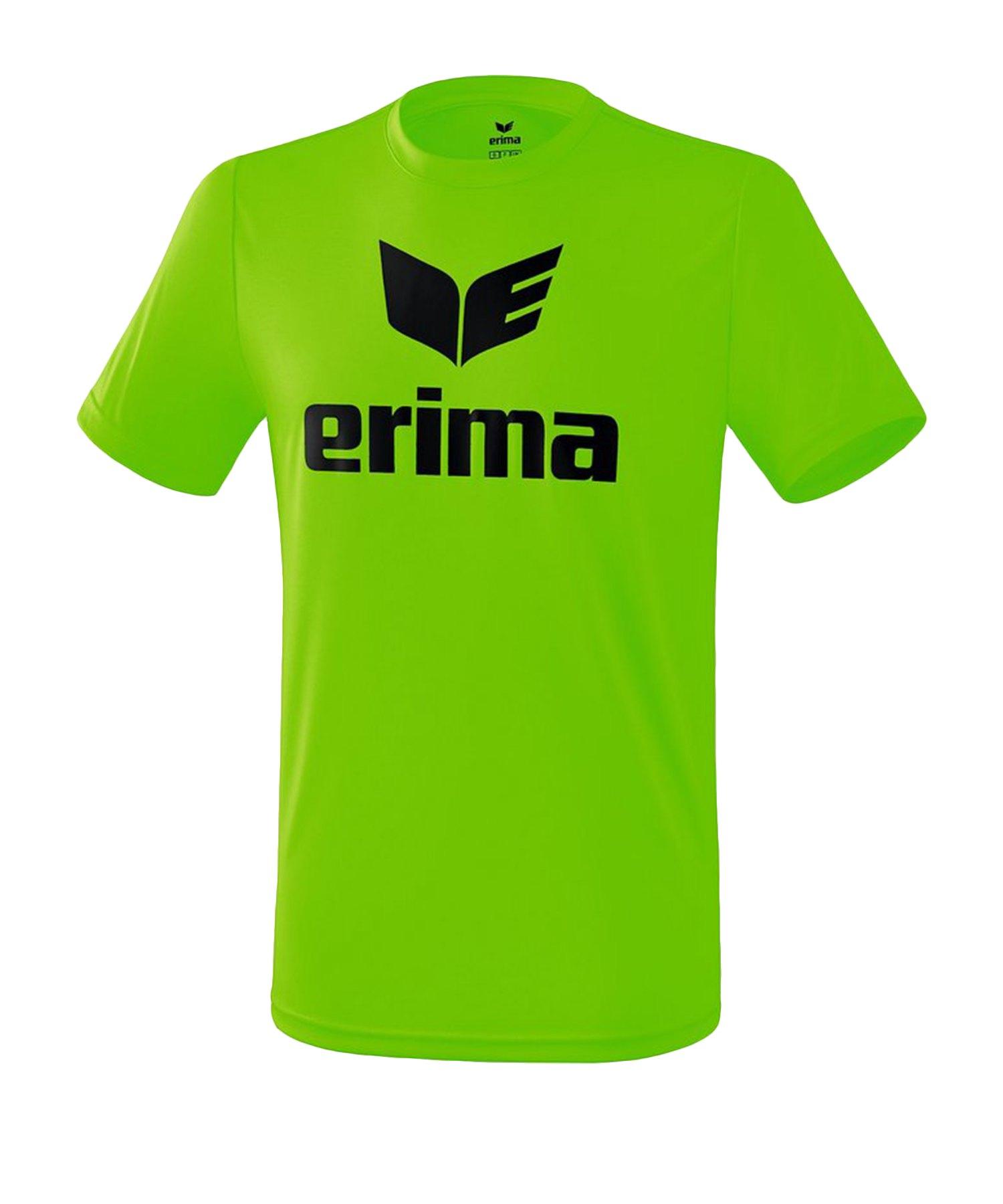 Erima Funktions Promo T-Shirt Grün Schwarz - Gruen