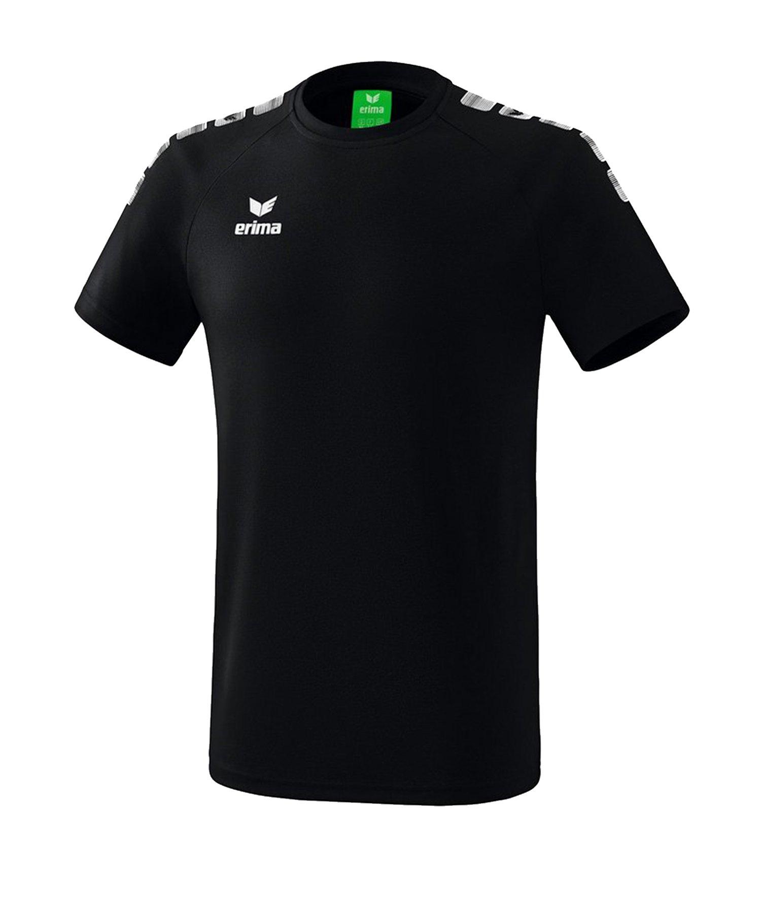 Erima Essential 5-C T-Shirt Schwarz Weiss - Schwarz