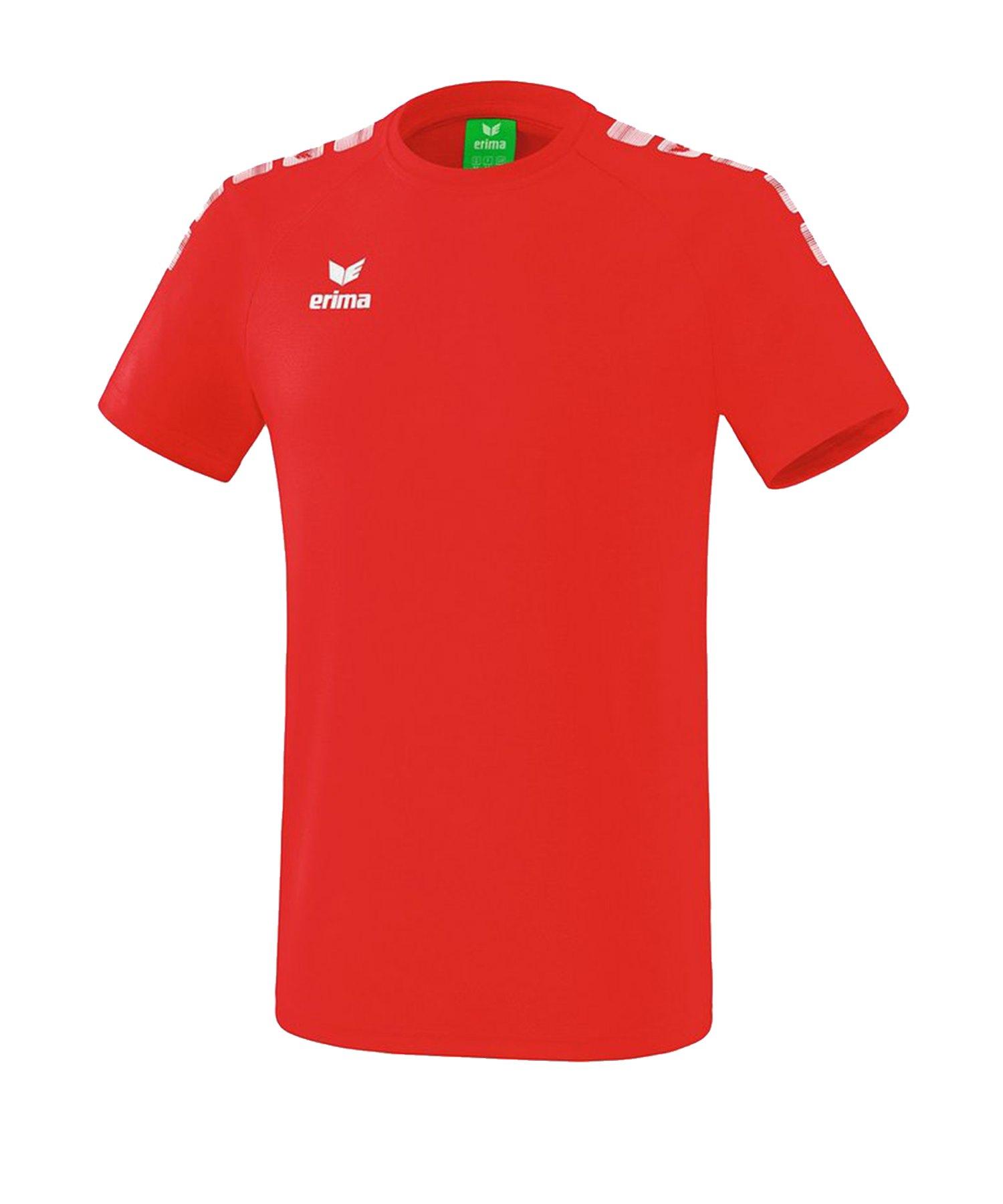 Erima Essential 5-C T-Shirt Rot Weiss - Rot