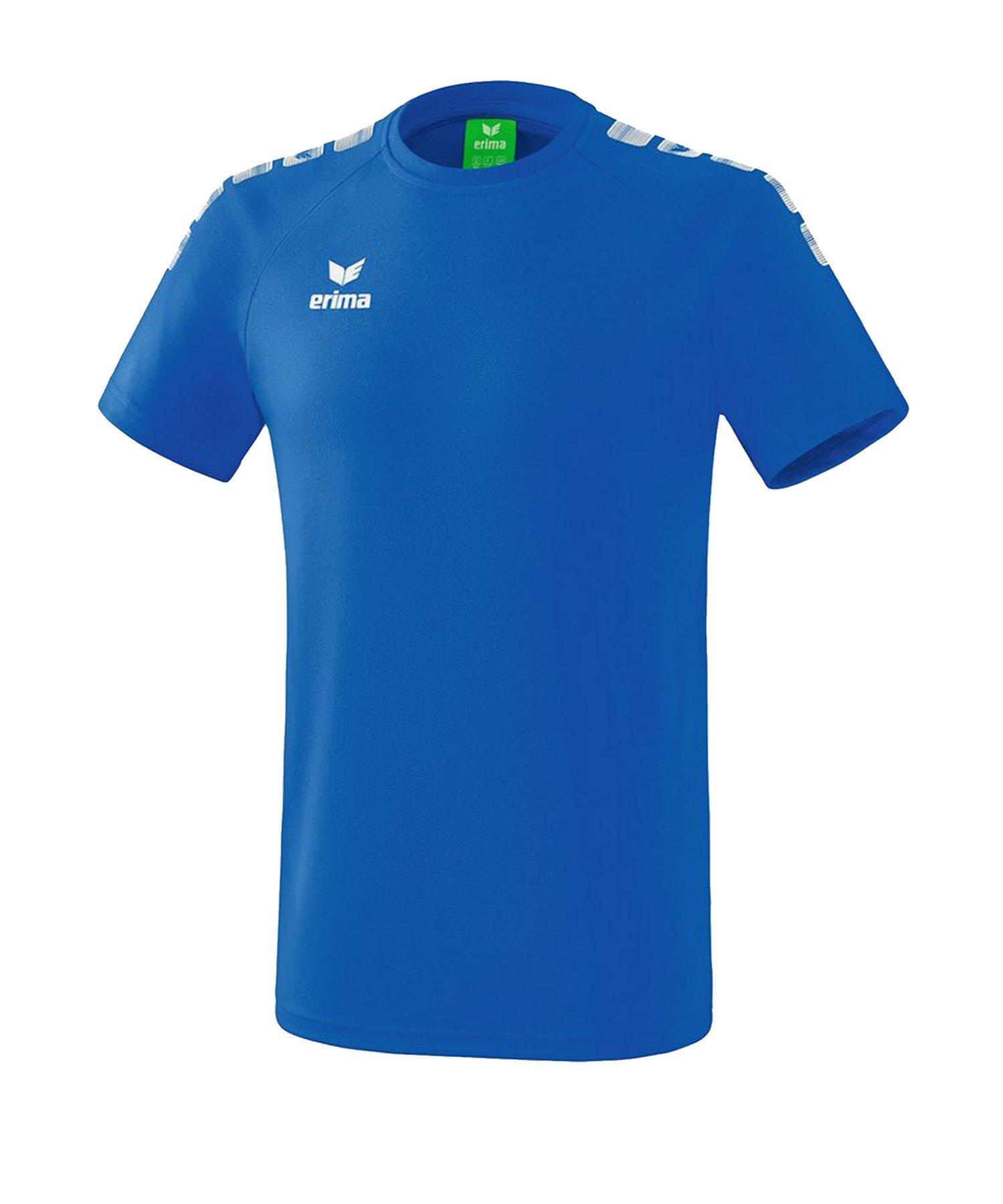 Erima Essential 5-C T-Shirt Blau Weiss - Blau