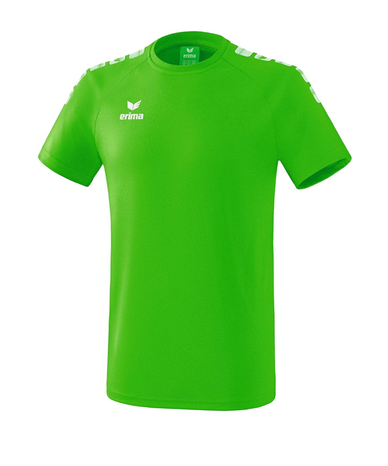 Erima Essential 5-C T-Shirt Kids Grün Weiss - Gruen