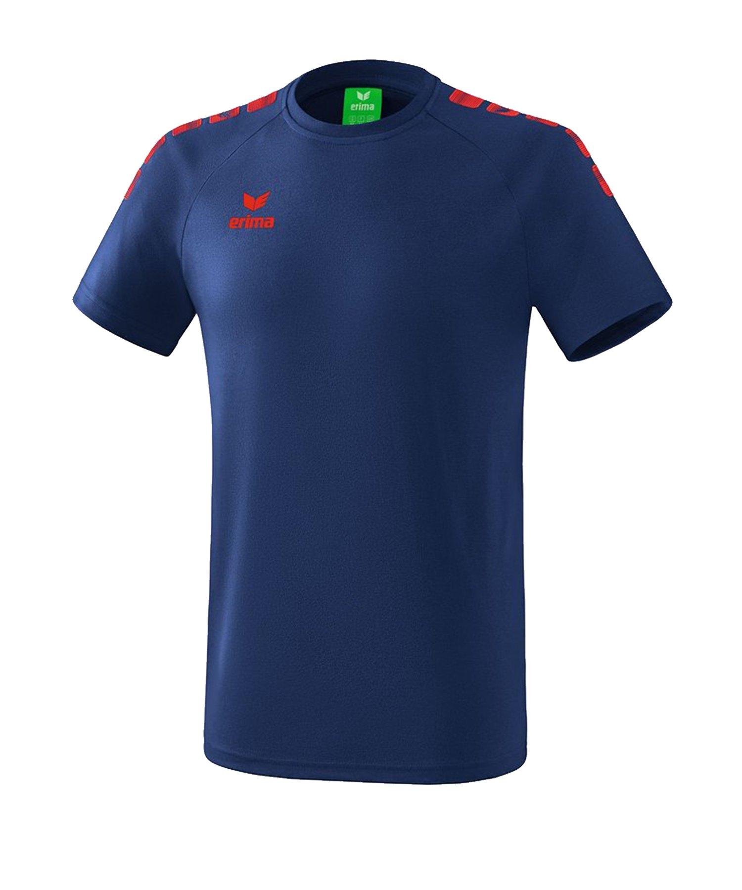 Erima Essential 5-C T-Shirt Kids Blau Rot - Blau