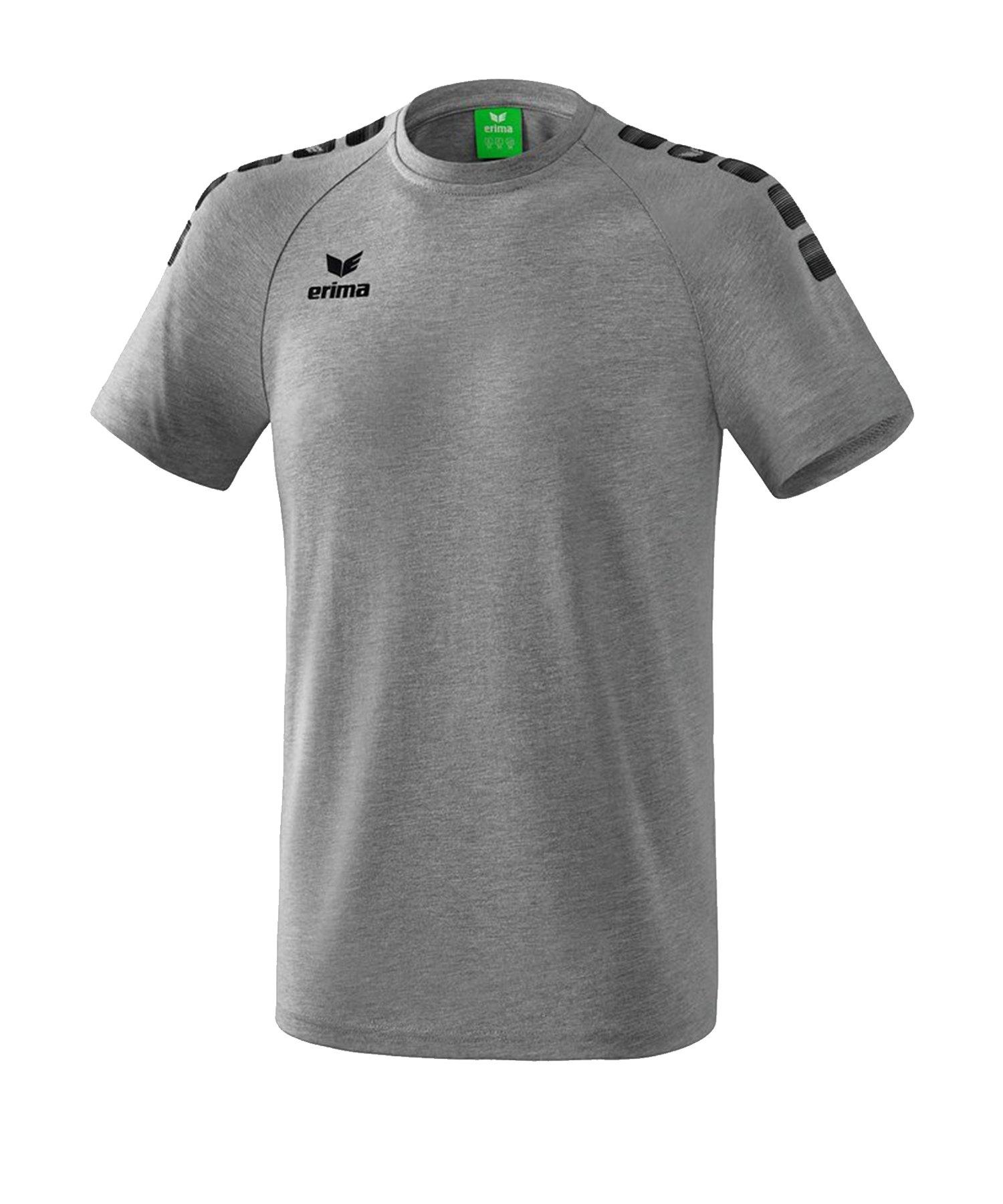 Erima Essential 5-C T-Shirt Grau Schwarz - Grau