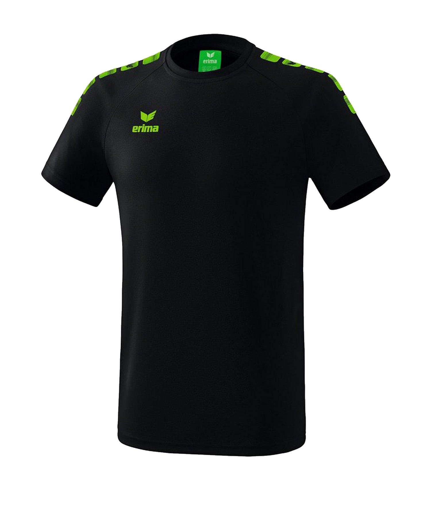 Erima Essential 5-C T-Shirt Schwarz Grün - Schwarz