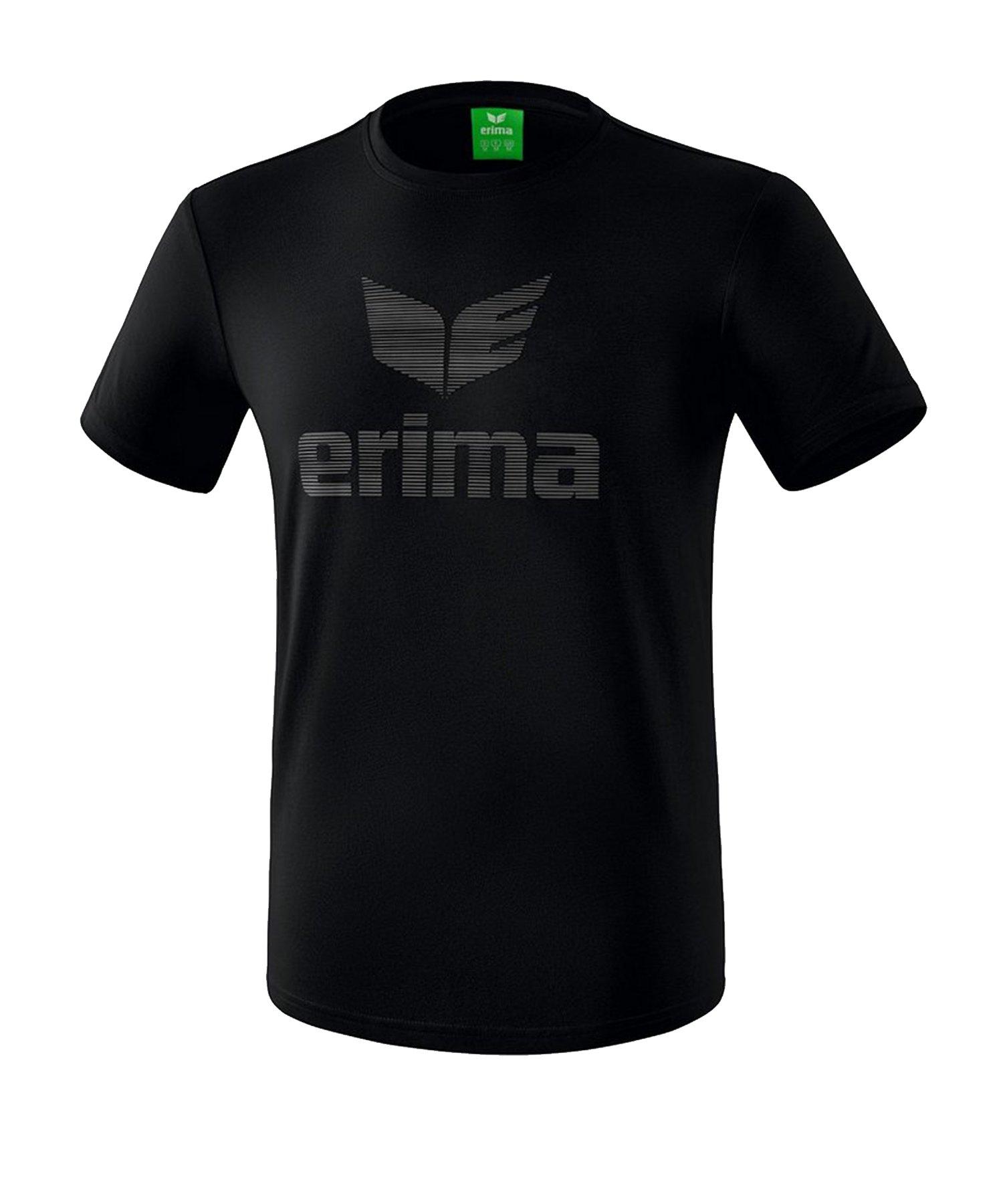 Erima Essential T-Shirt Kids Schwarz Grau - Schwarz