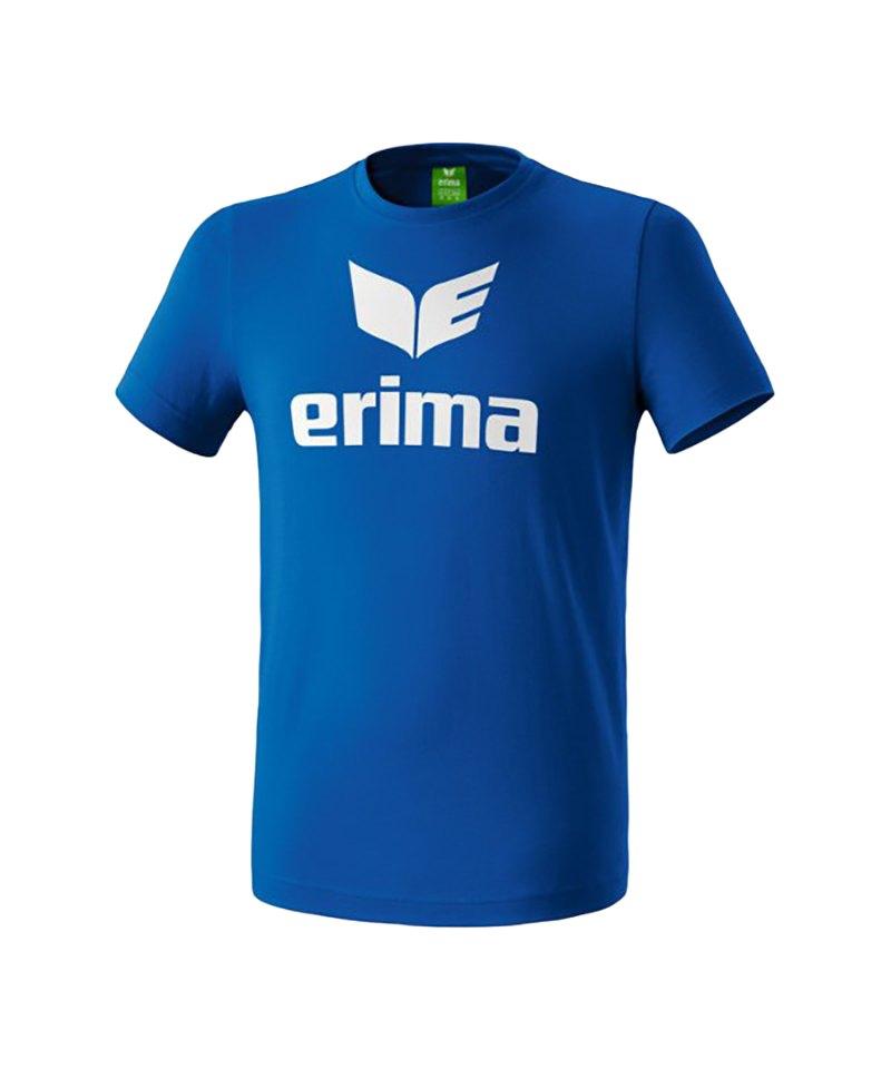 Erima Promo T-Shirt Blau Weiss - blau