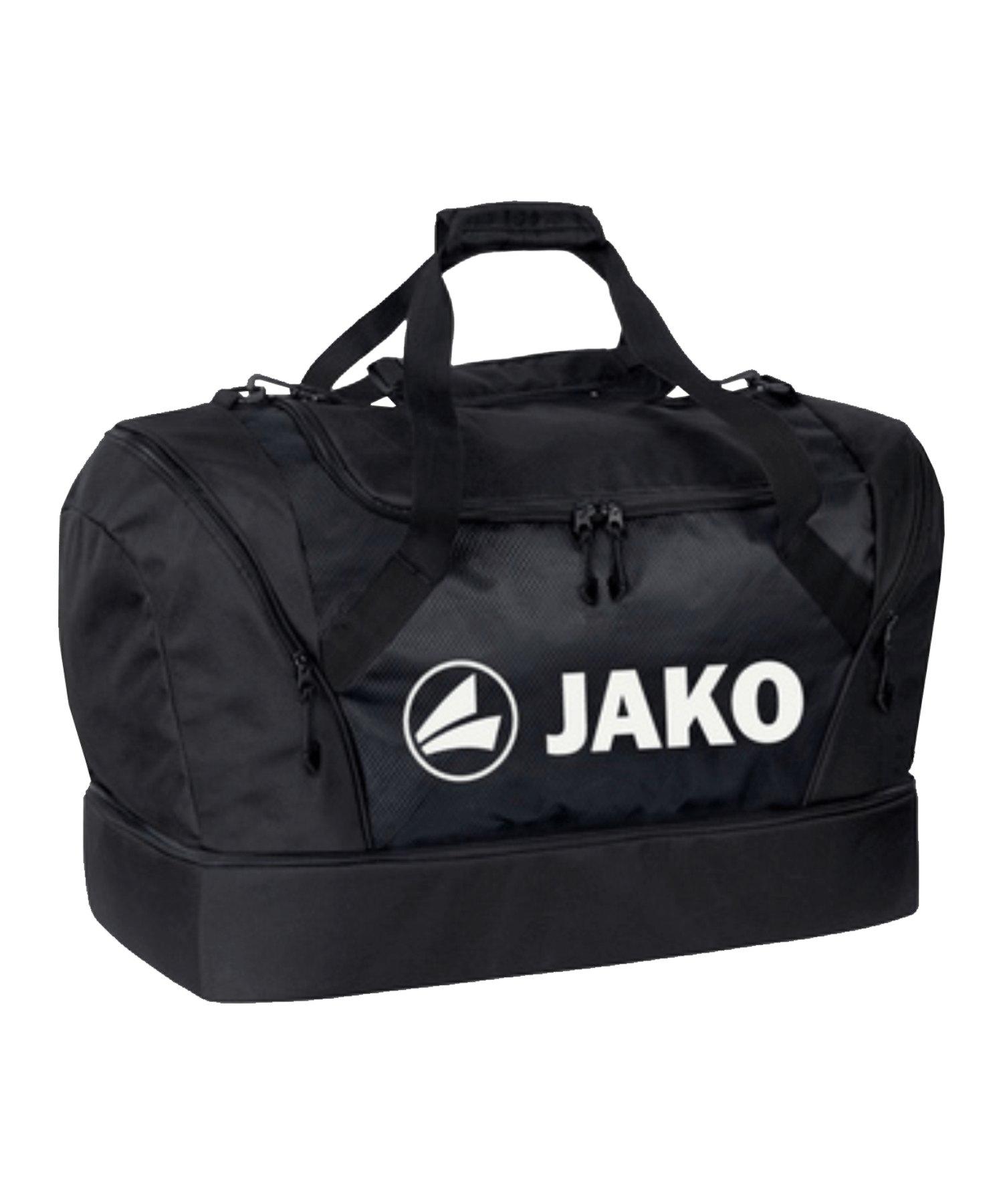 JAKO Sporttasche mit Bodenfach Senior Schwarz F08 - schwarz