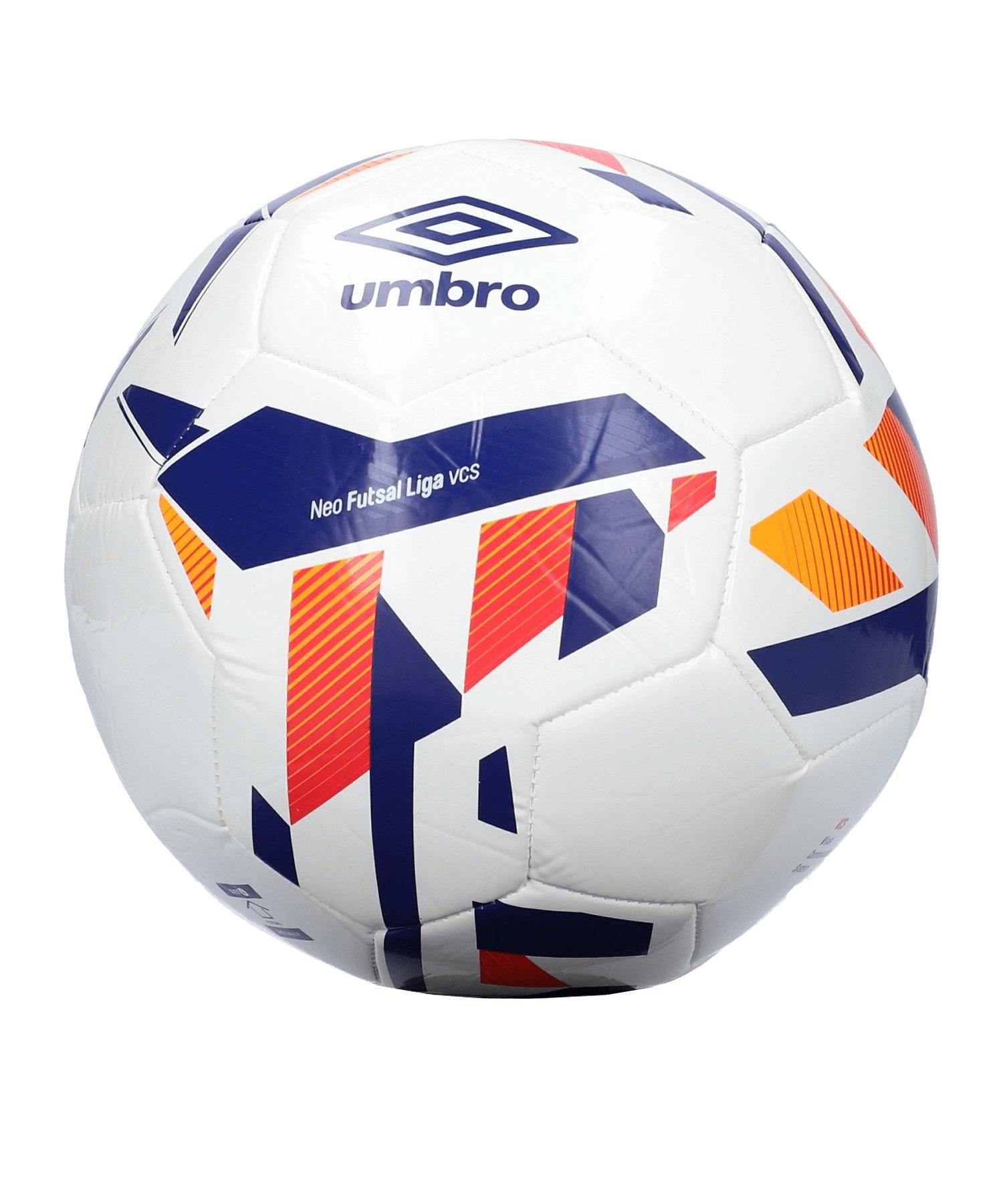Umbro Neo Futsal Liga Trainingsball Weiss FFZM - weiss