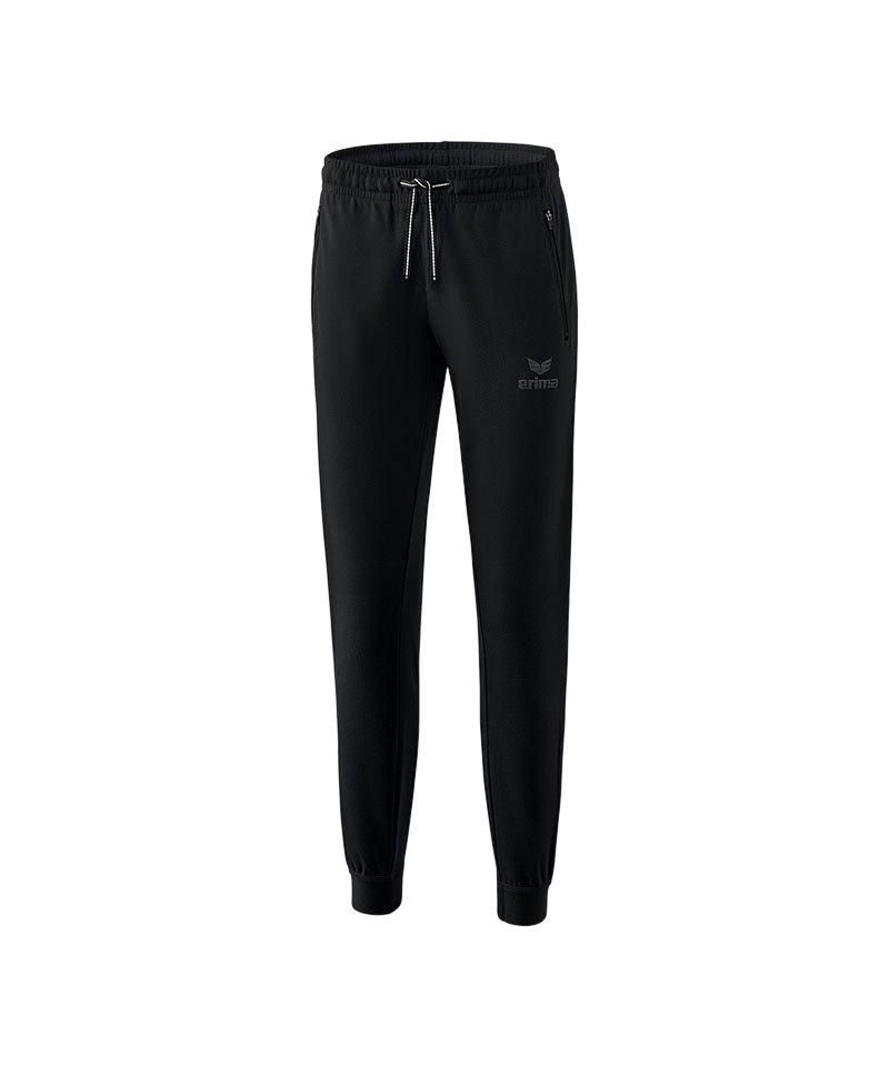 Erima Essential Sweathose Pant Damen Schwarz - schwarz