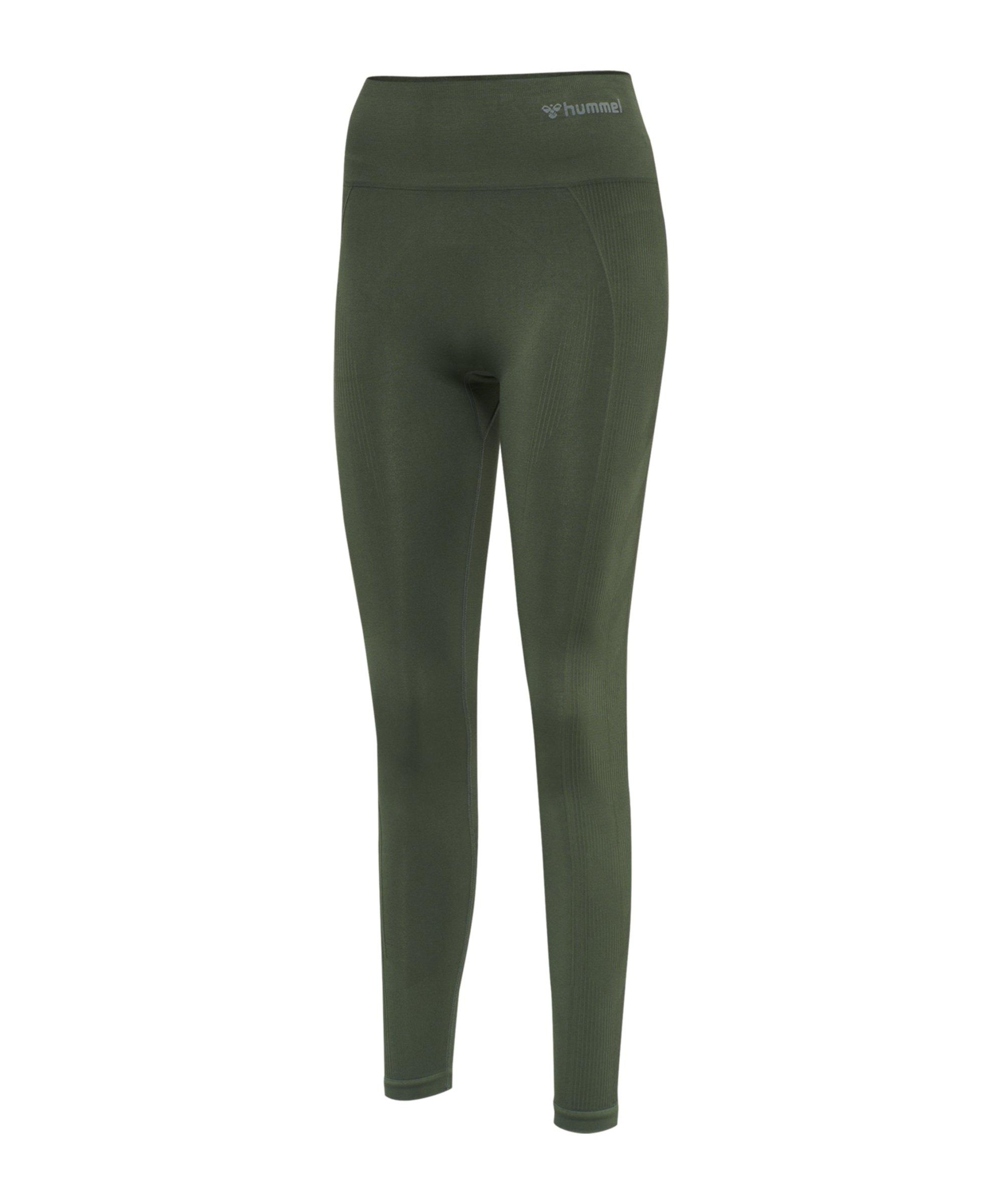 Hummel Seamless High Waist Leggings Damen F6173 - gruen