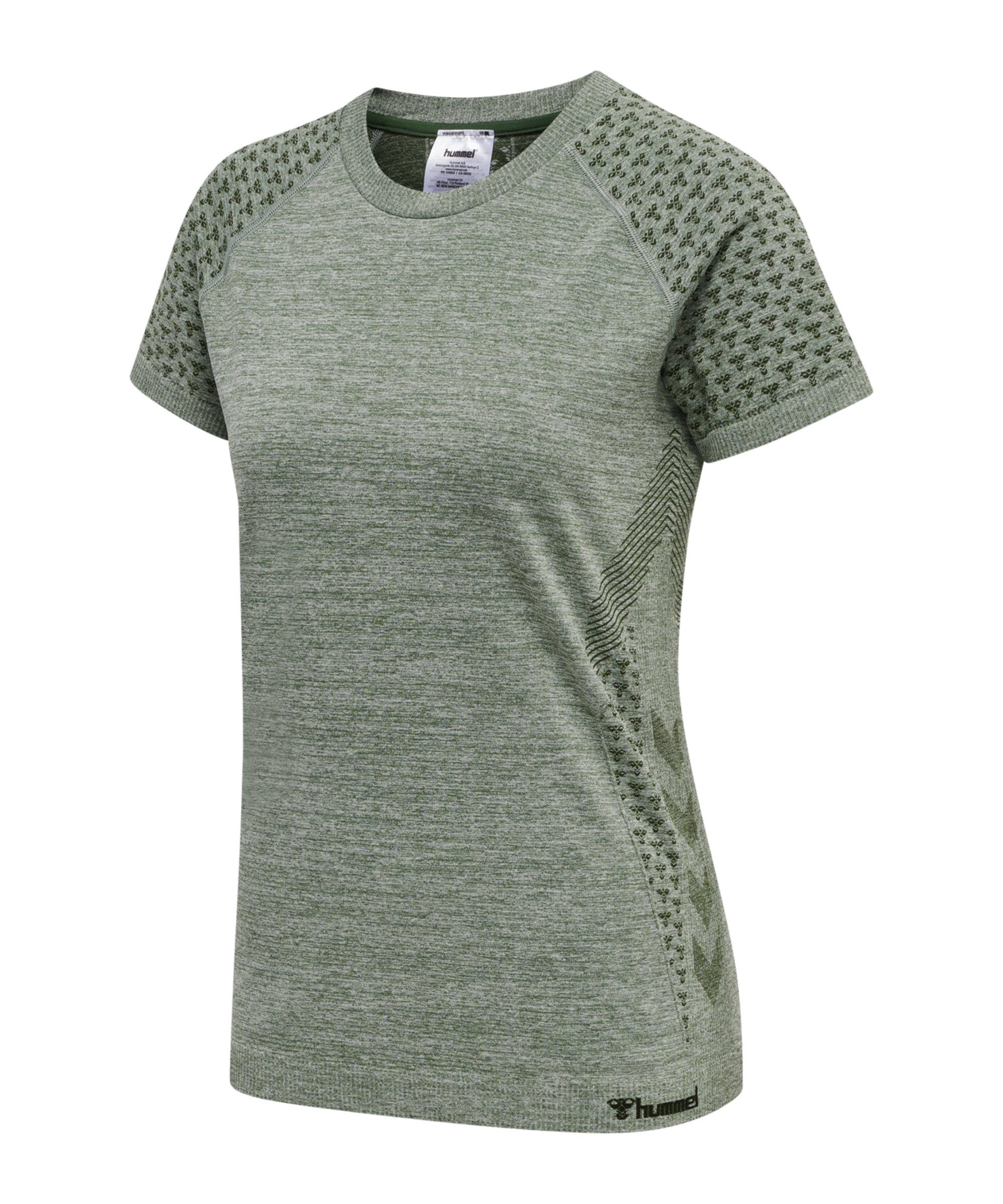 Hummel hmlci Seamless T-Shirt Damen F6361 - gruen