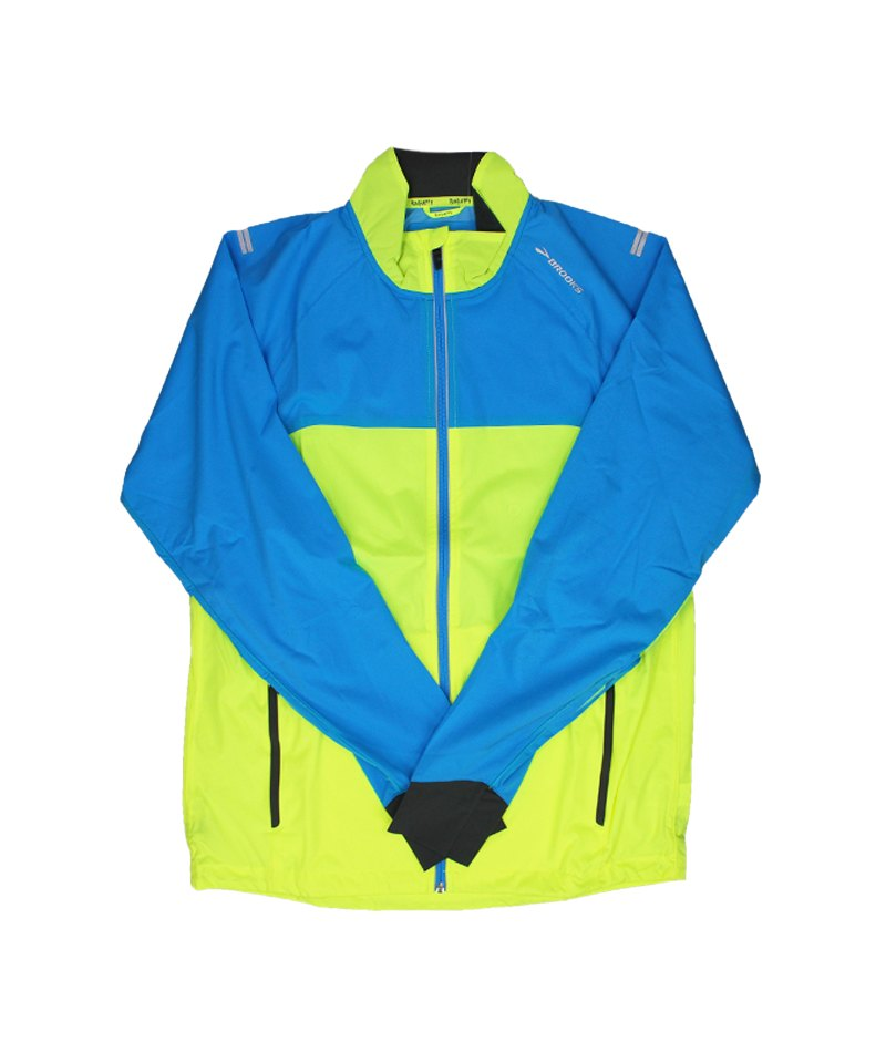 Brooks Drift Shell Jacke Running Gelb Blau F340 - gelb
