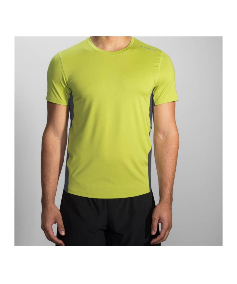 Brooks Steady Tee T-Shirt Running Grün F324 - gruen