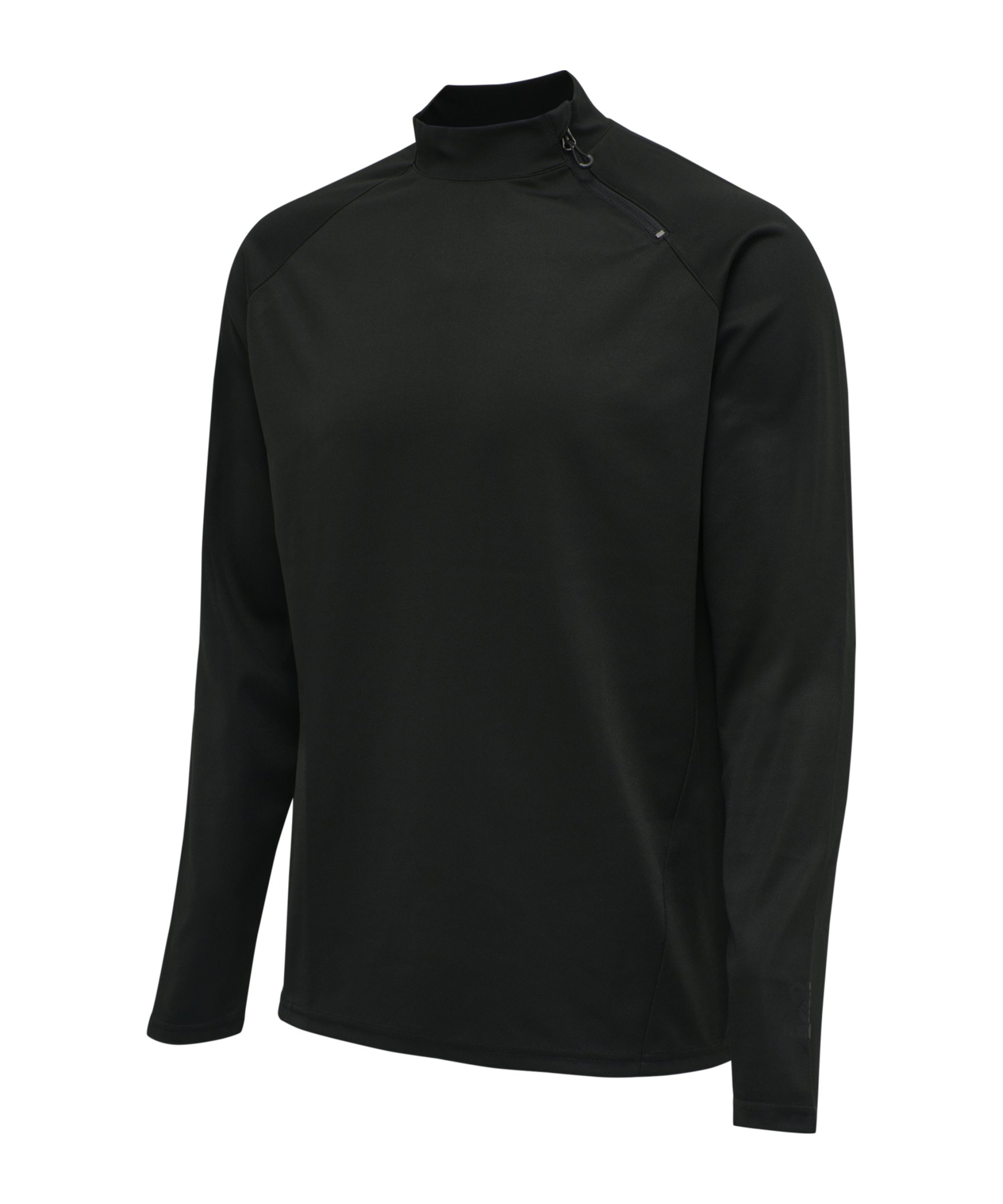 Hummel ACTION HalfZip Sweatshirt Schwarz F2345 - schwarz