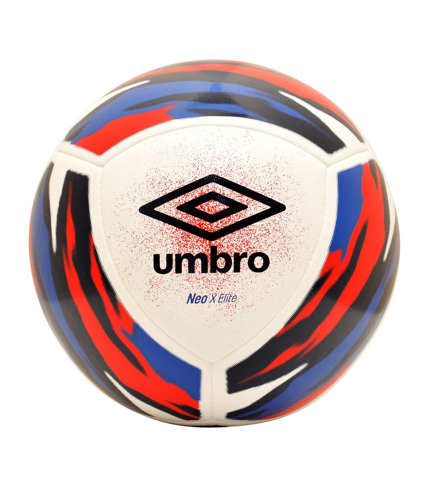 Umbro Neo X Elite Spielball Weiss Blau FJPX - weiss