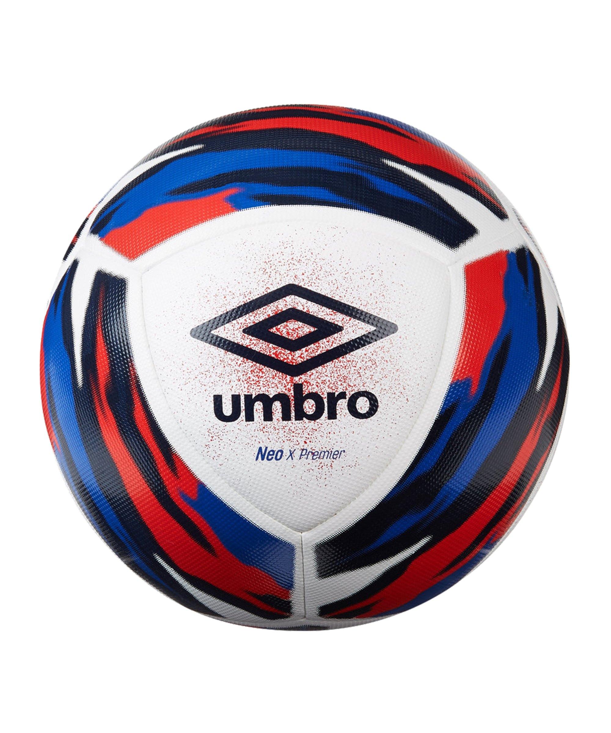 Umbro Neo X Premier Trainingsball Weiss Blau FJPX - weiss
