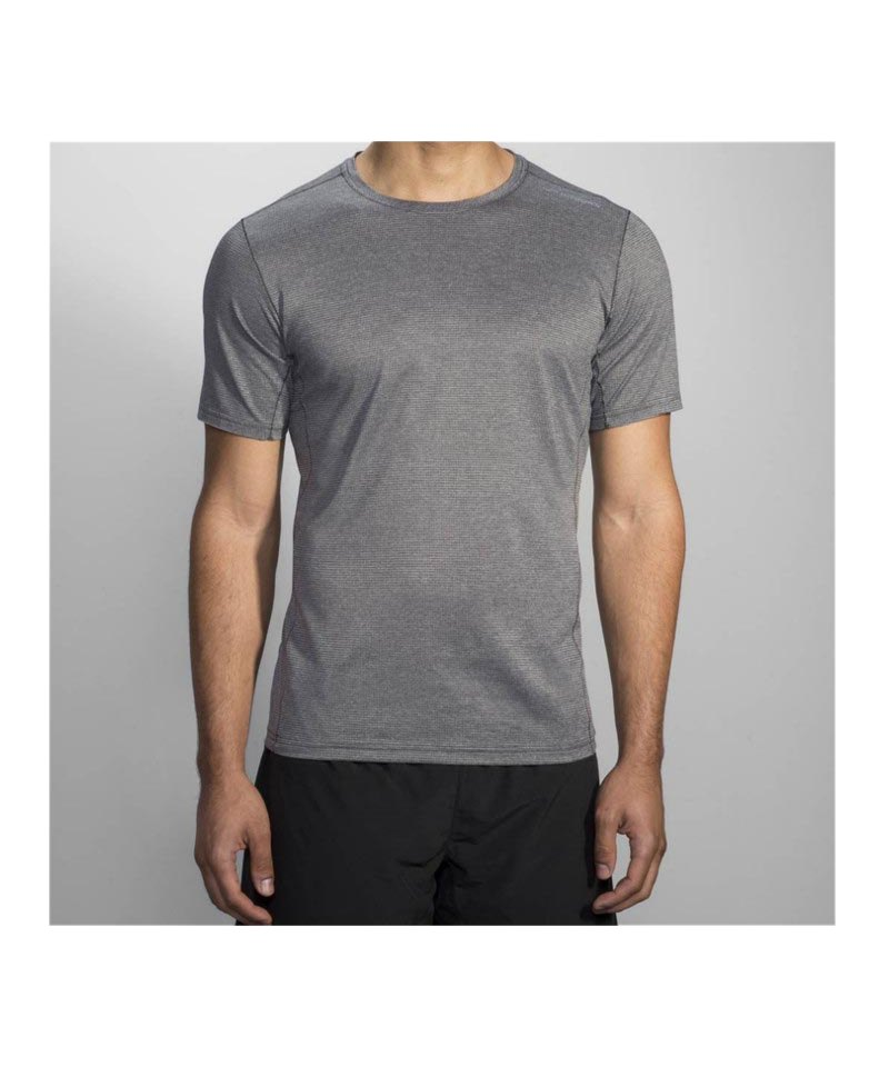 Brooks Ghost Tee T-Shirt Running Grau F020 - grau
