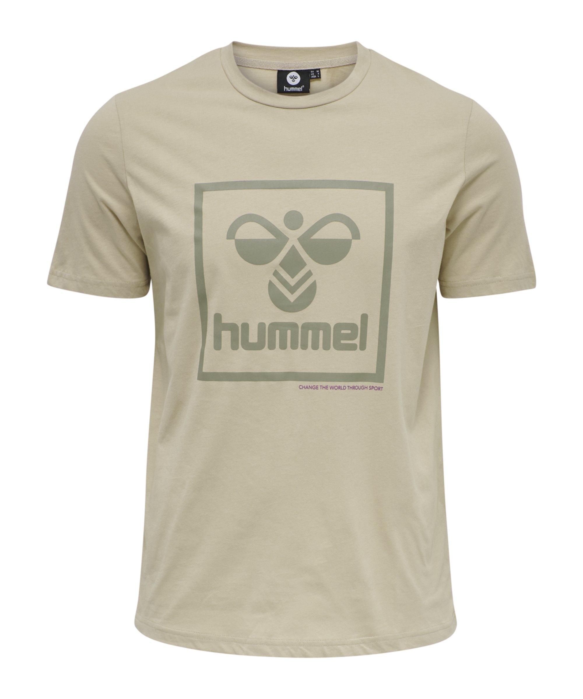 Hummel Isam T-Shirt Braun F2189 - beige