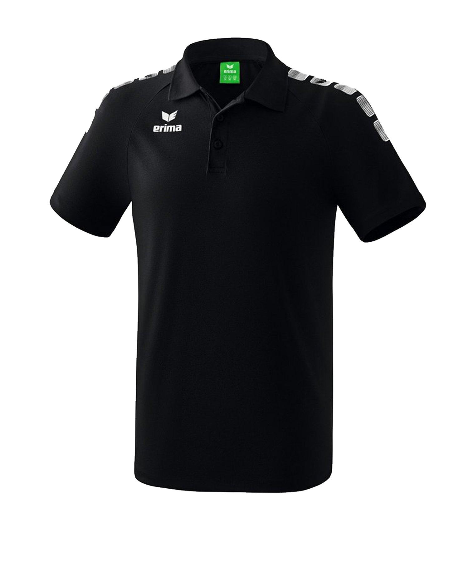 Erima Essential 5-C Poloshirt Schwarz Weiss - Schwarz