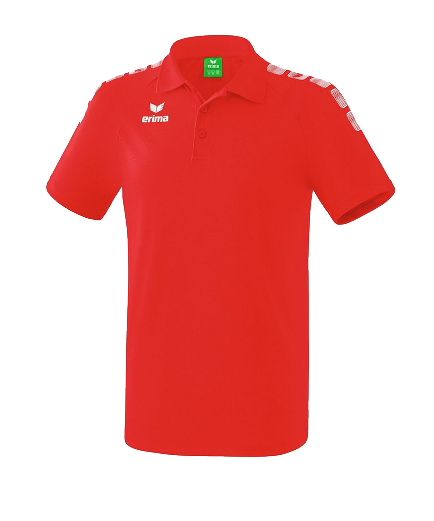 Erima Essential 5-C Poloshirt Kids Rot Weiss - Rot