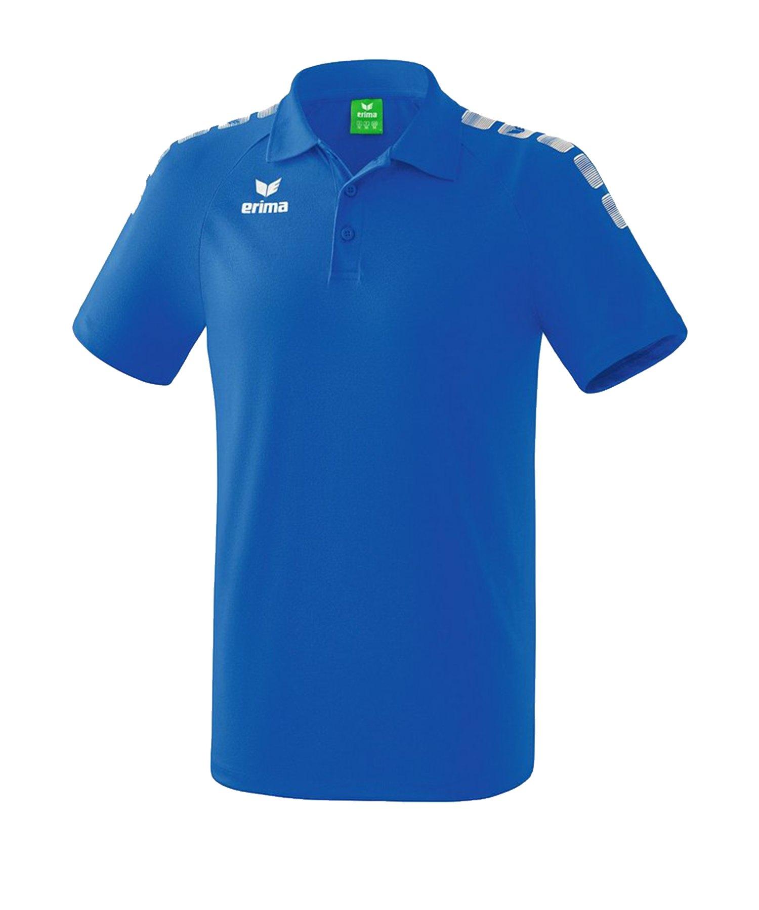 Erima Essential 5-C Poloshirt Blau Weiss - Blau