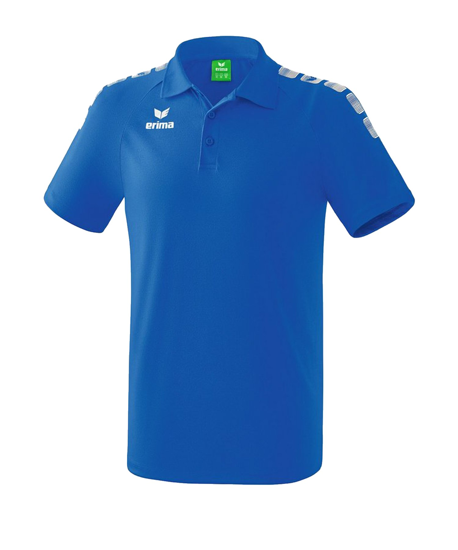 Erima Essential 5-C Poloshirt Kids Blau Weiss - Blau