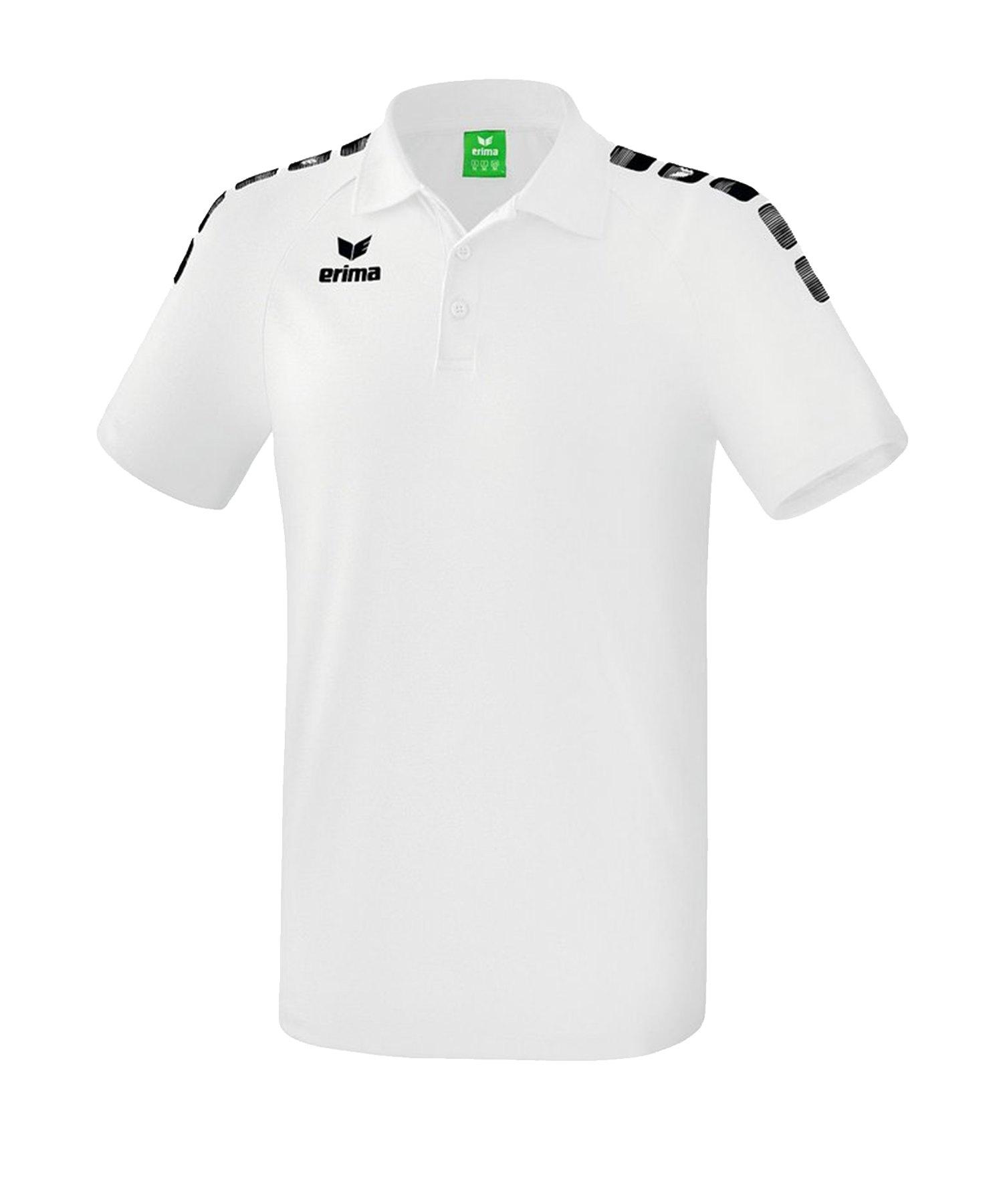 Erima Essential 5-C Poloshirt Weiss Schwarz - Weiss