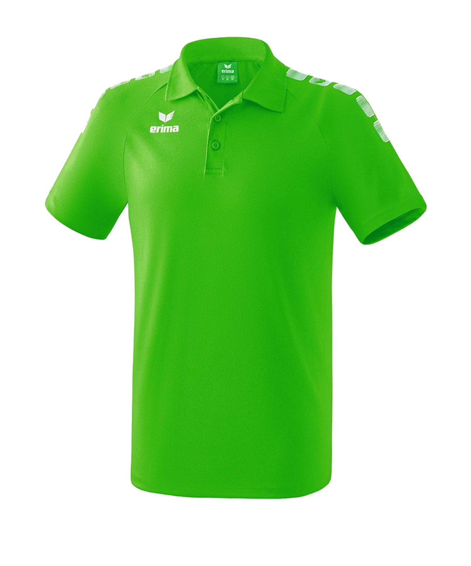 Erima Essential 5-C Poloshirt Grün Weiss - Gruen
