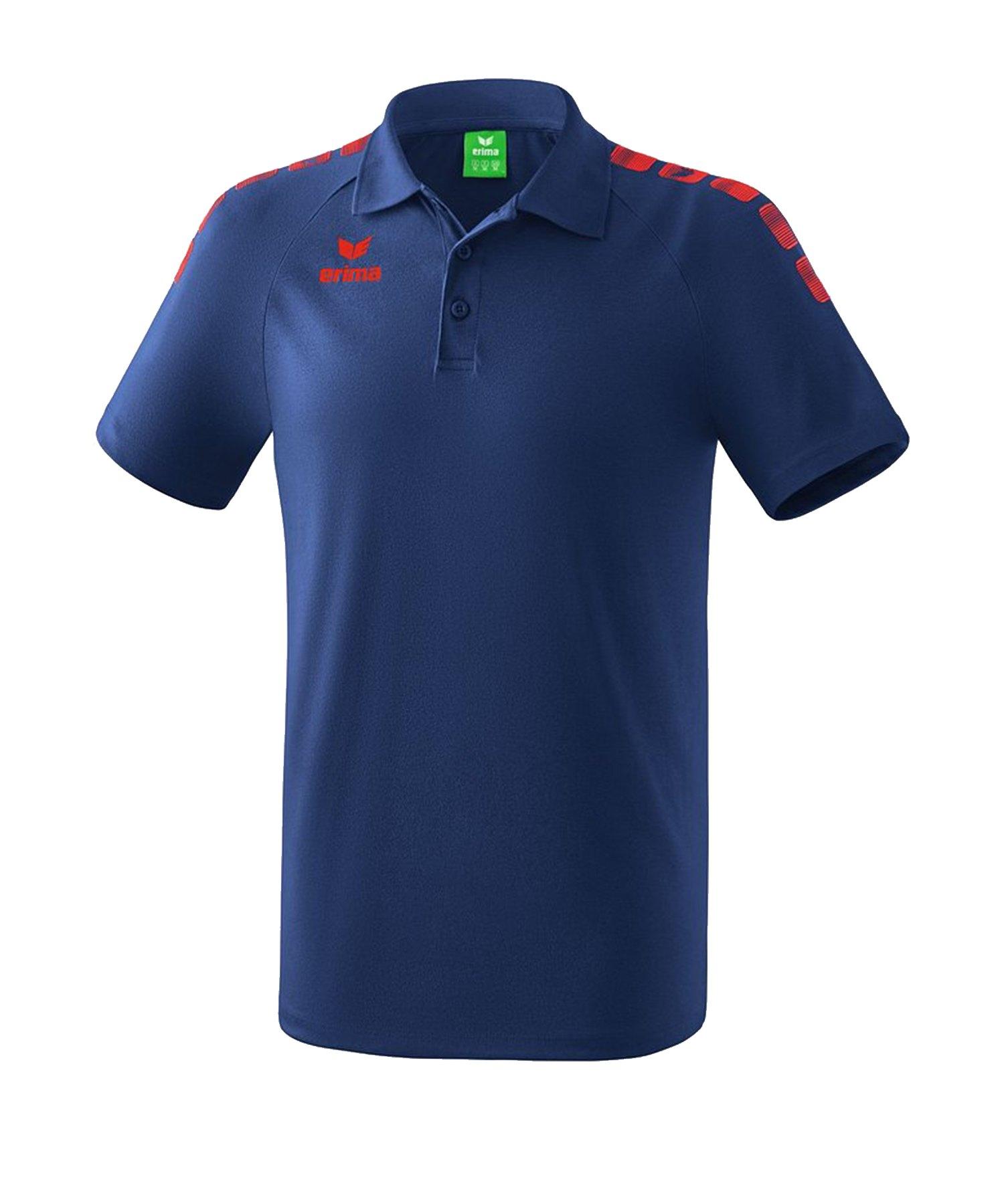 Erima Essential 5-C Poloshirt Blau Rot - Blau