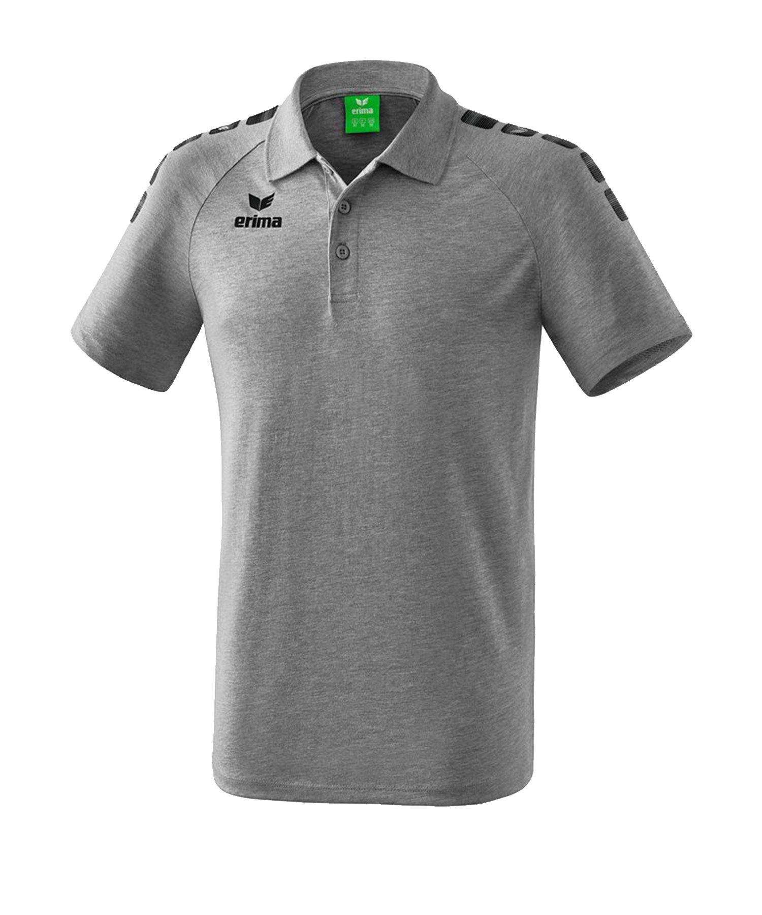 Erima Essential 5-C Poloshirt Grau Schwarz - Grau