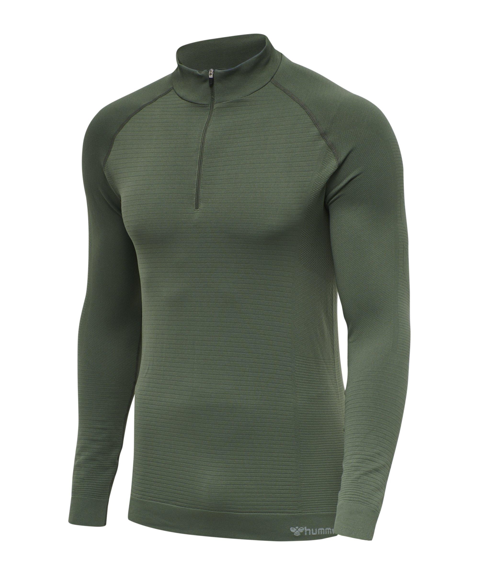 Hummel hmlstroke Seamless HalfZip Sweatshirt F6173 - gruen