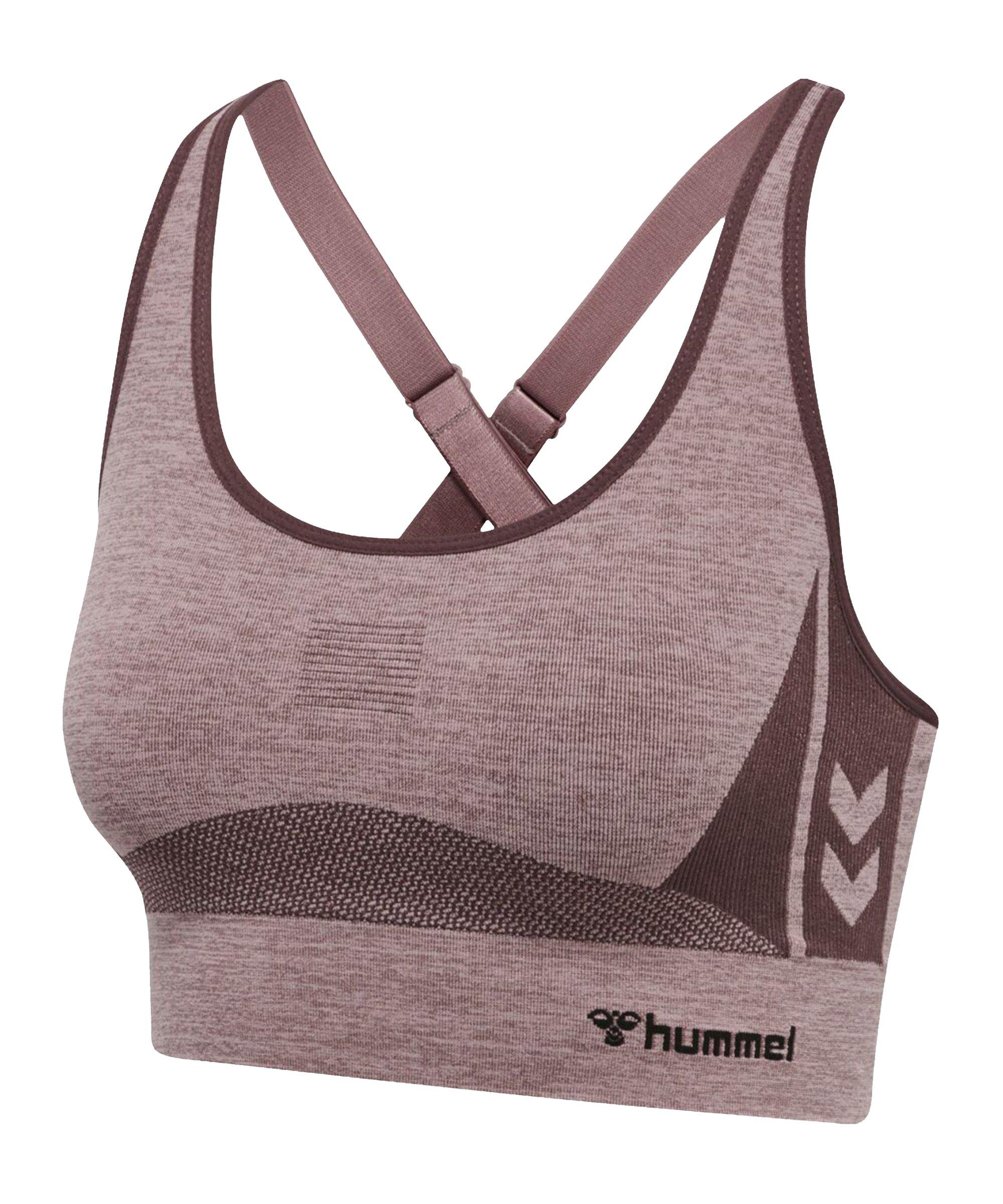 Hummel hmlcea Seamless Sports Top Damen F8018 - braun