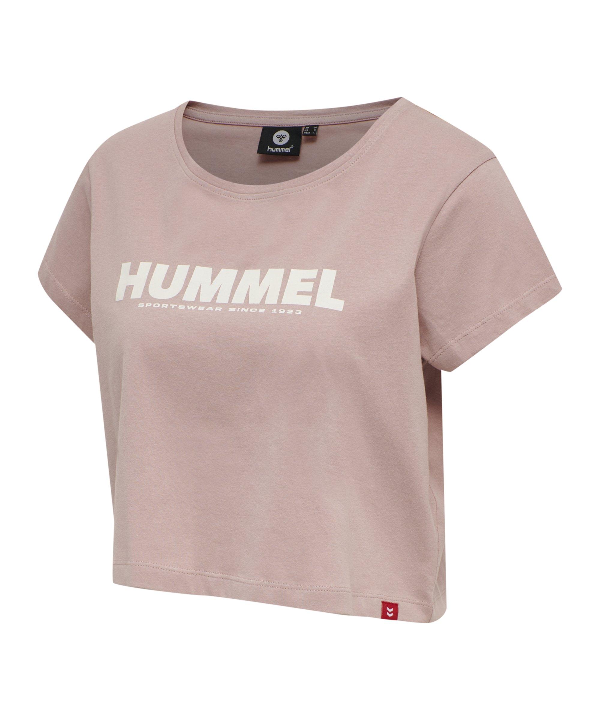 Hummel Legacy Cropped T-Shirt Damen Rosa F4852 - rosa