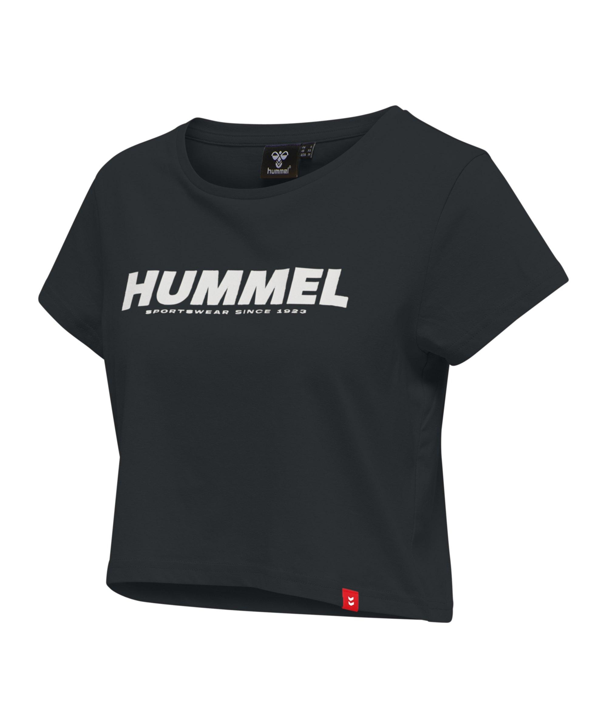 Hummel Legacy Cropped T-Shirt Damen Schwarz F2001 - schwarz