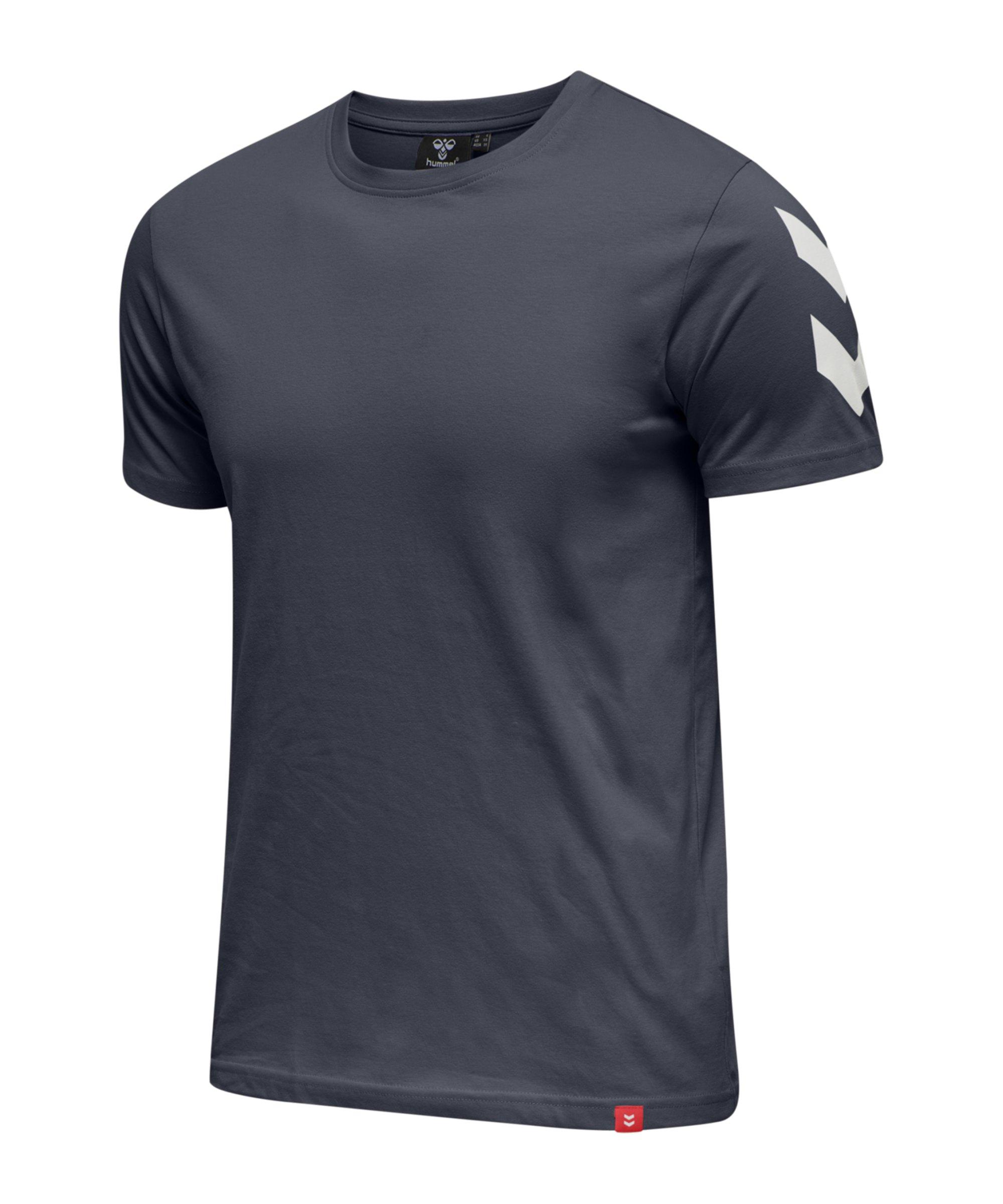 Hummel Legacy Chevron T-Shirt Blau F7429 - blau