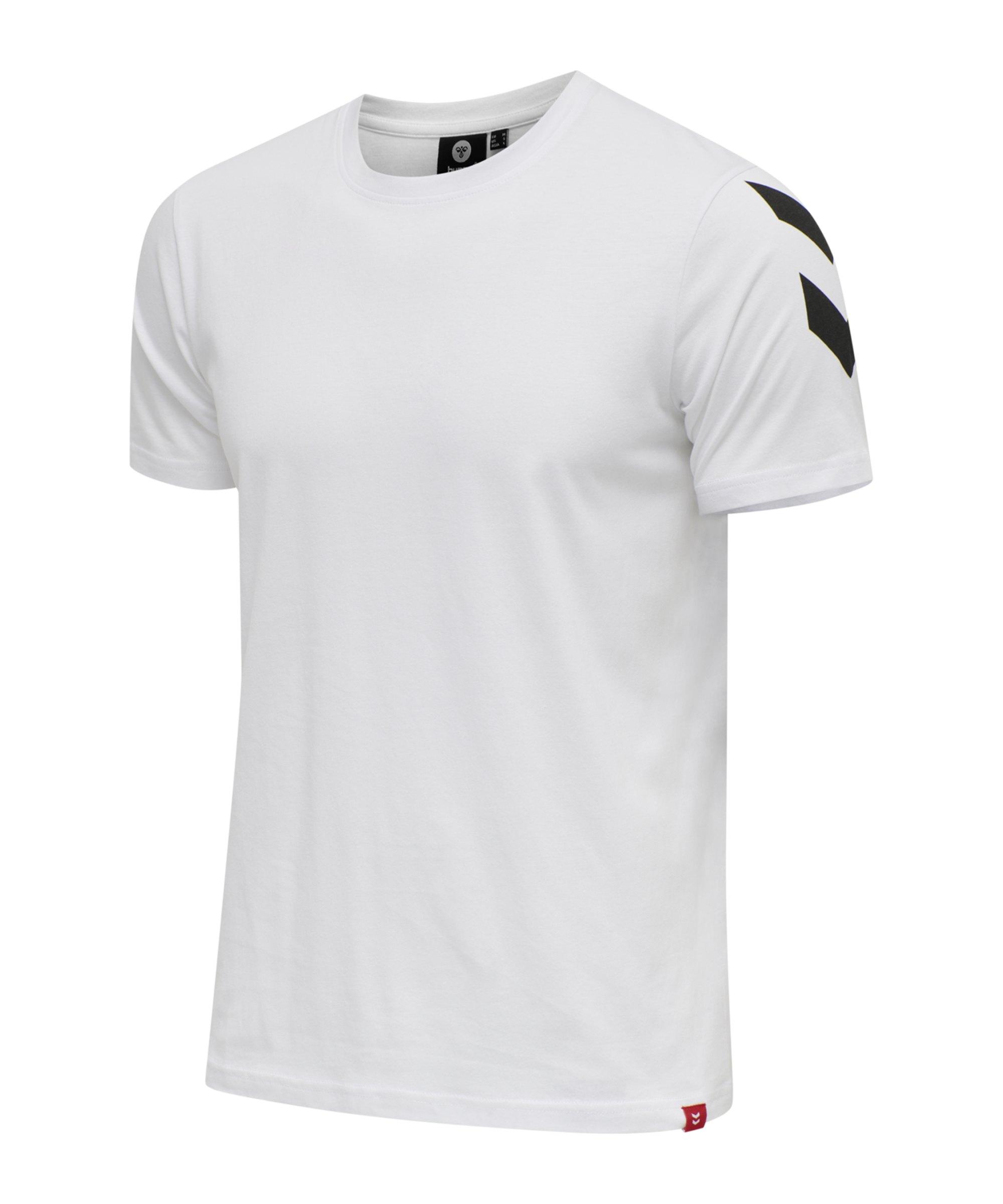 Hummel Legacy Chevron T-Shirt Weiss F9001 - weiss