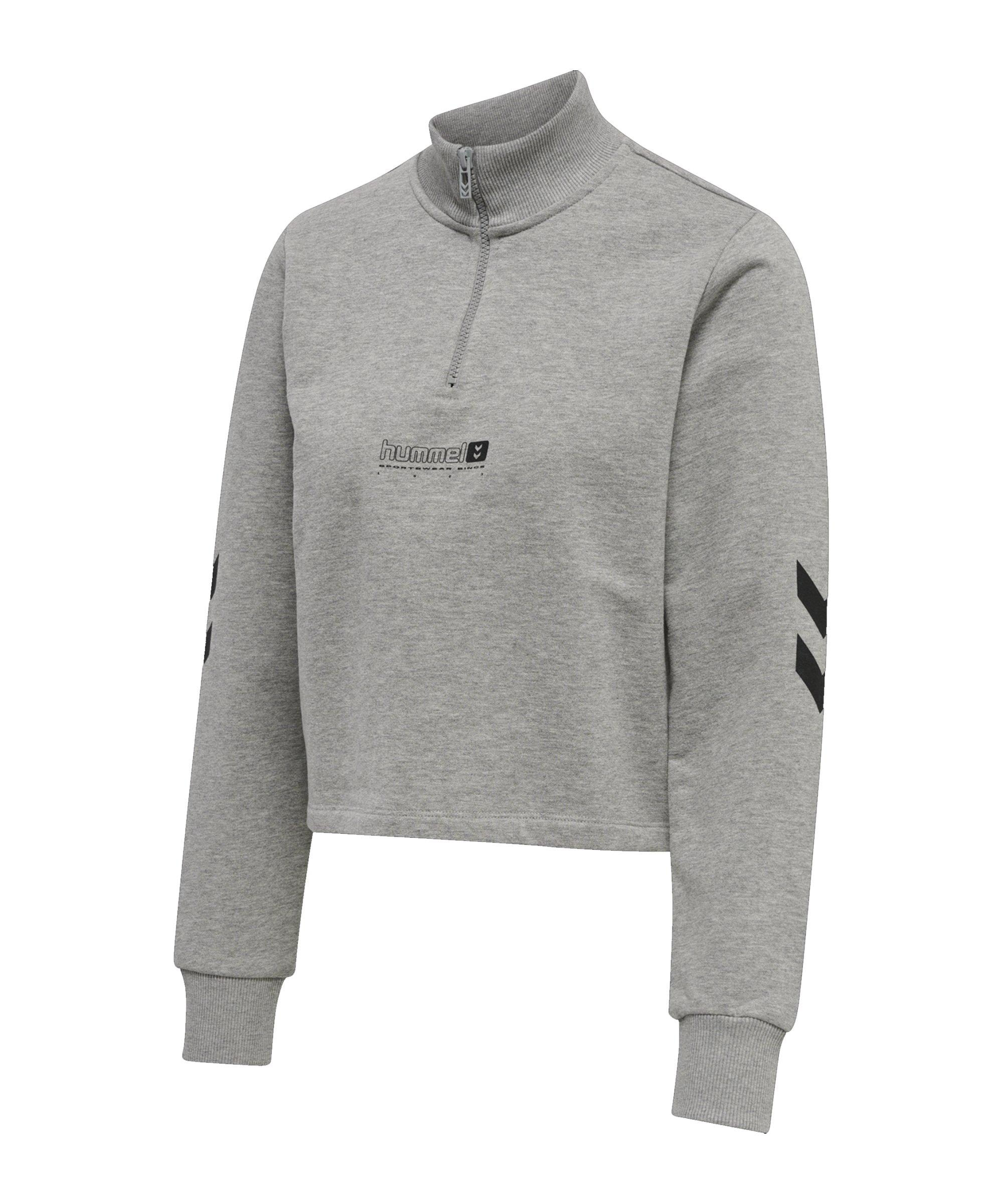 Hummel Nikka Cropped Sweatshirt Damen Grau F2006 - grau