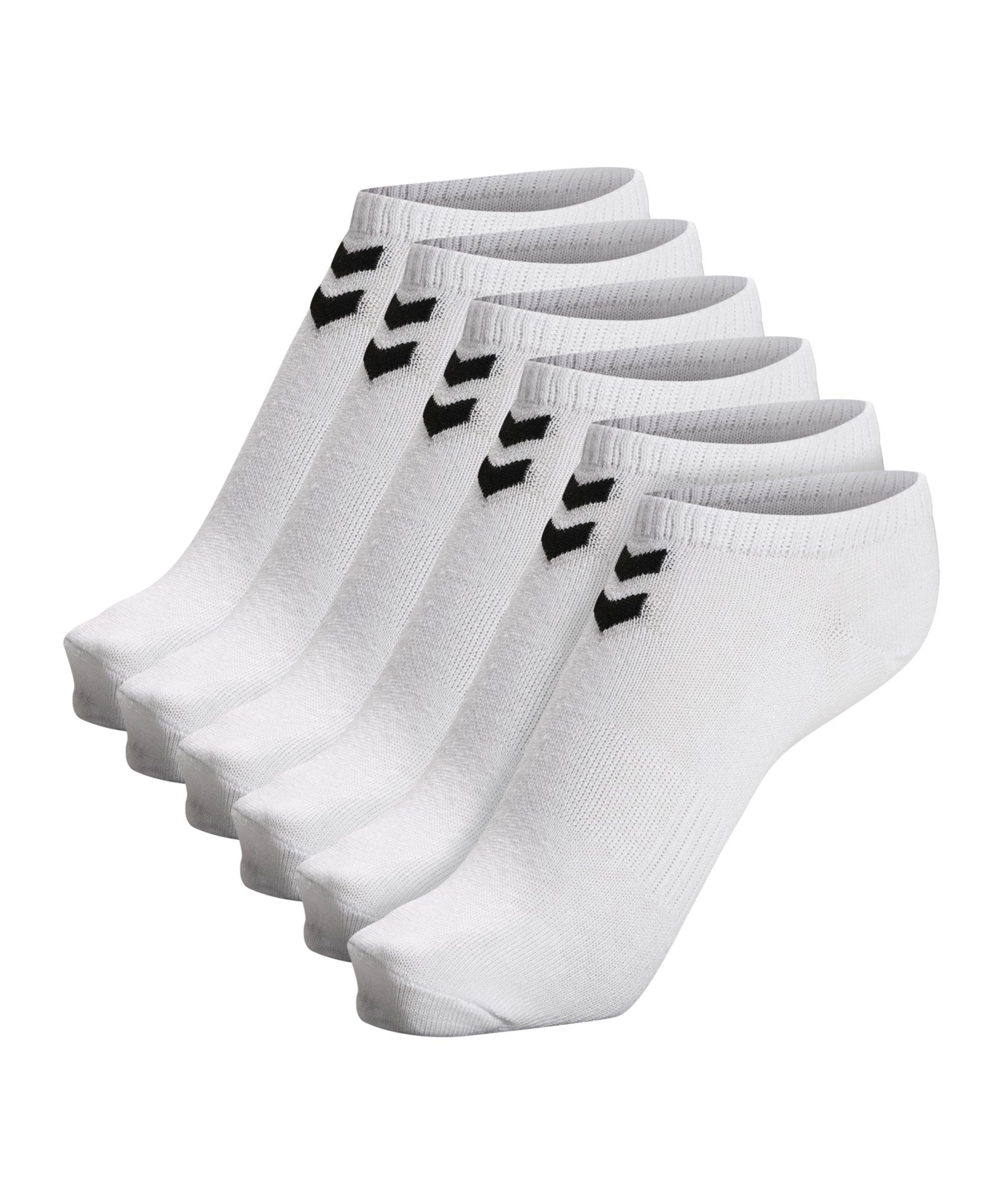 Hummel hmlchevron 6-Pack Ankle Socken F9001 - weiss