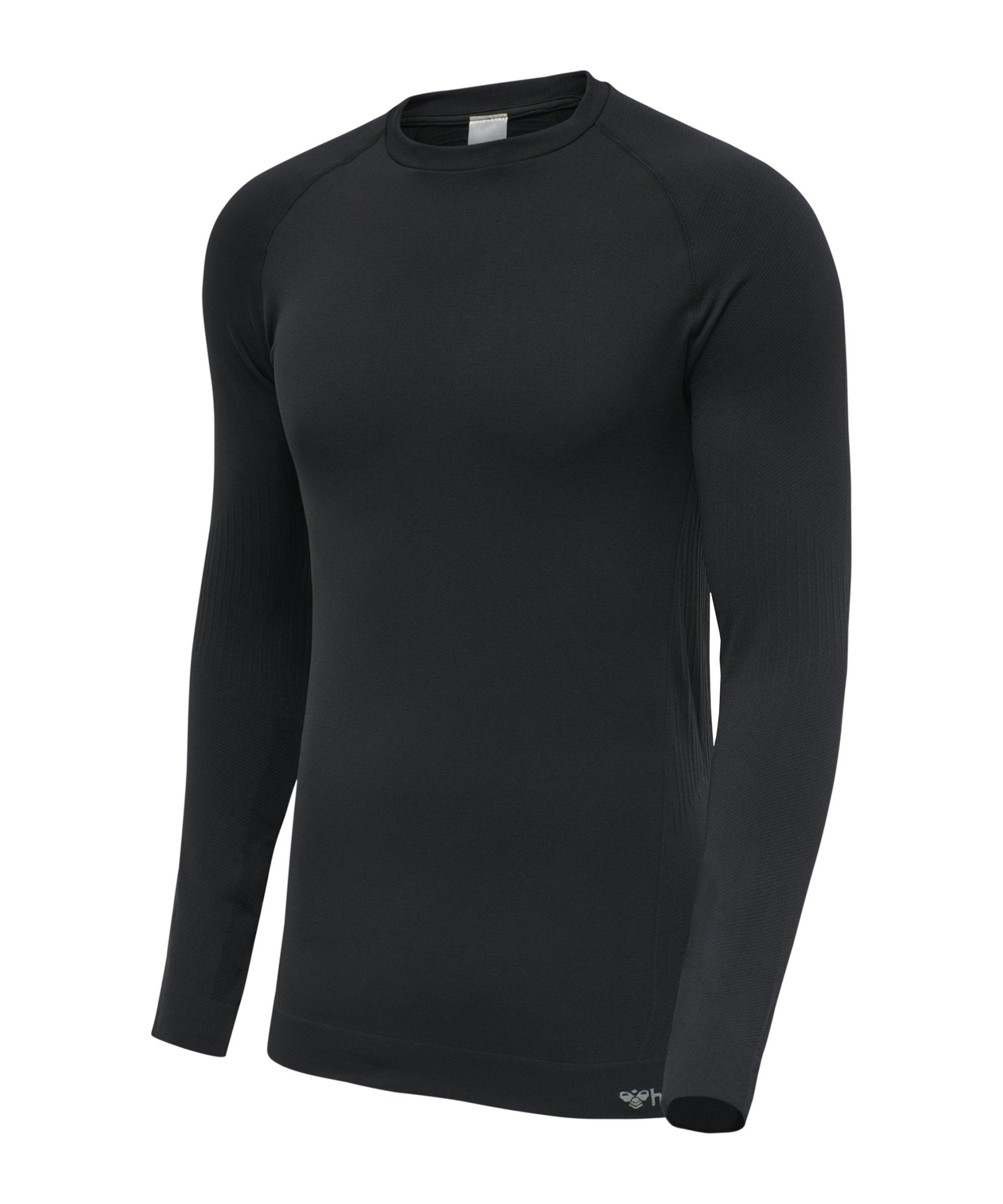 Hummel hmlstroke Seamless Sweatshirt Schwarz F2001 - schwarz