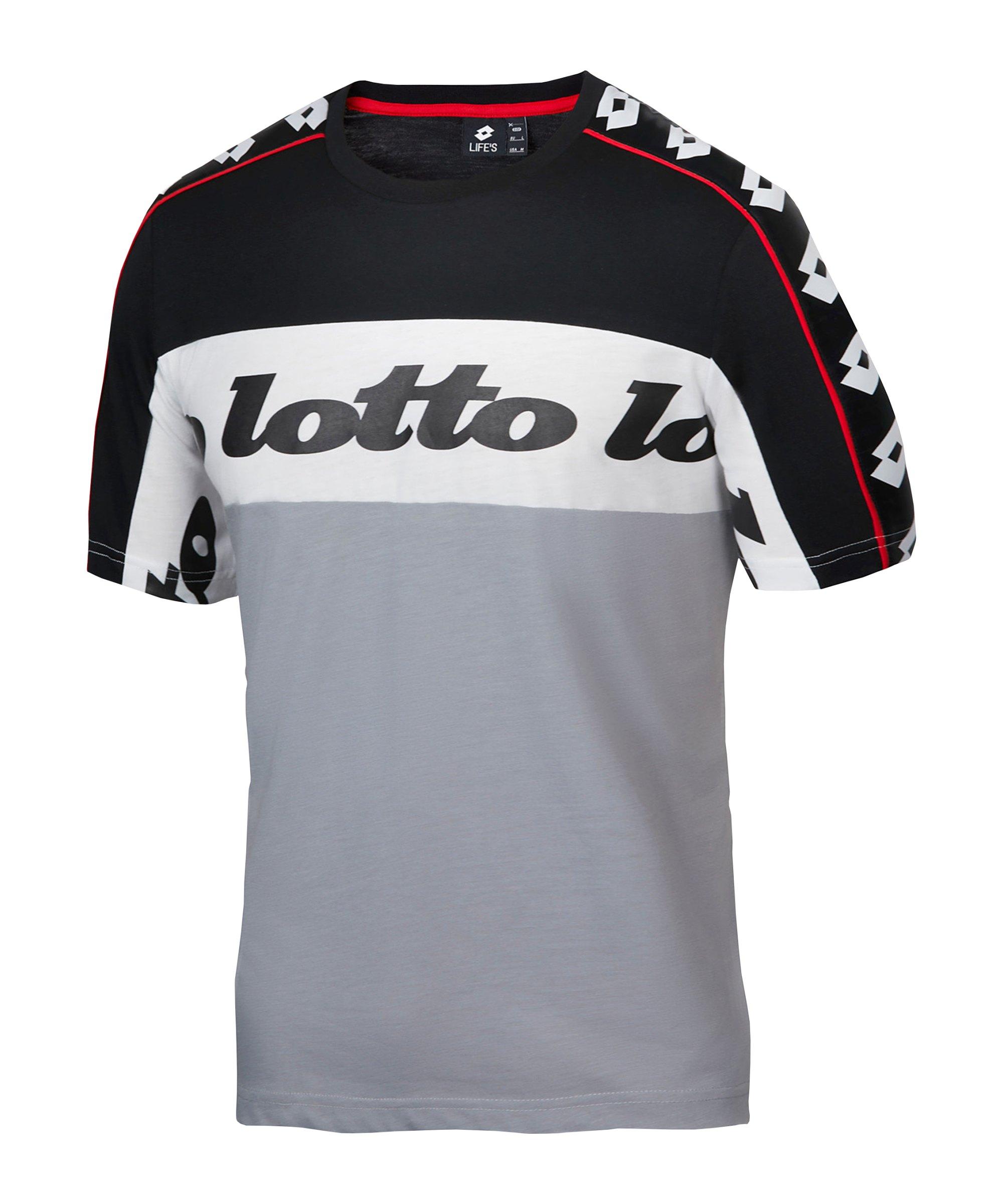Lotto Athletica Prime II T-Shirt Grau Schwarz F6U2 - grau