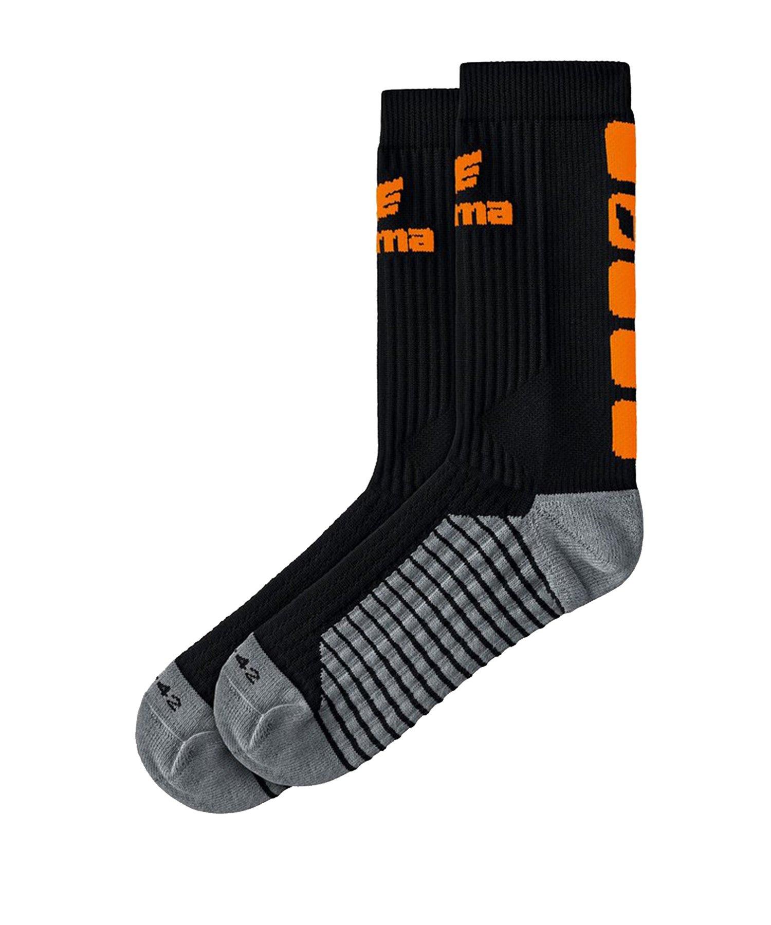 Erima CLASSIC 5-C Socken Schwarz Orange - Schwarz